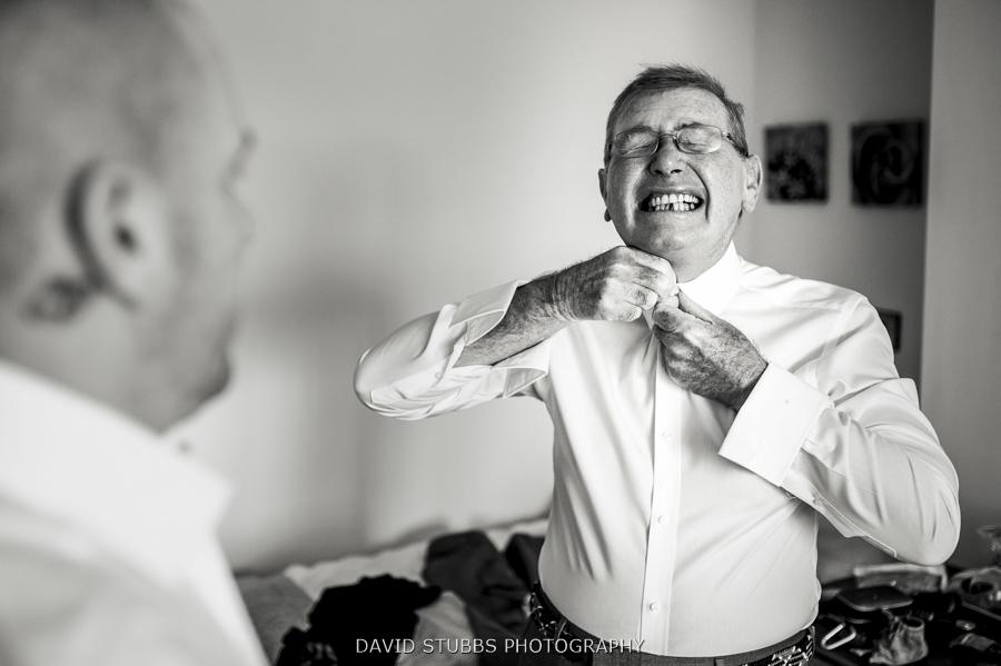 dad doing up his tie