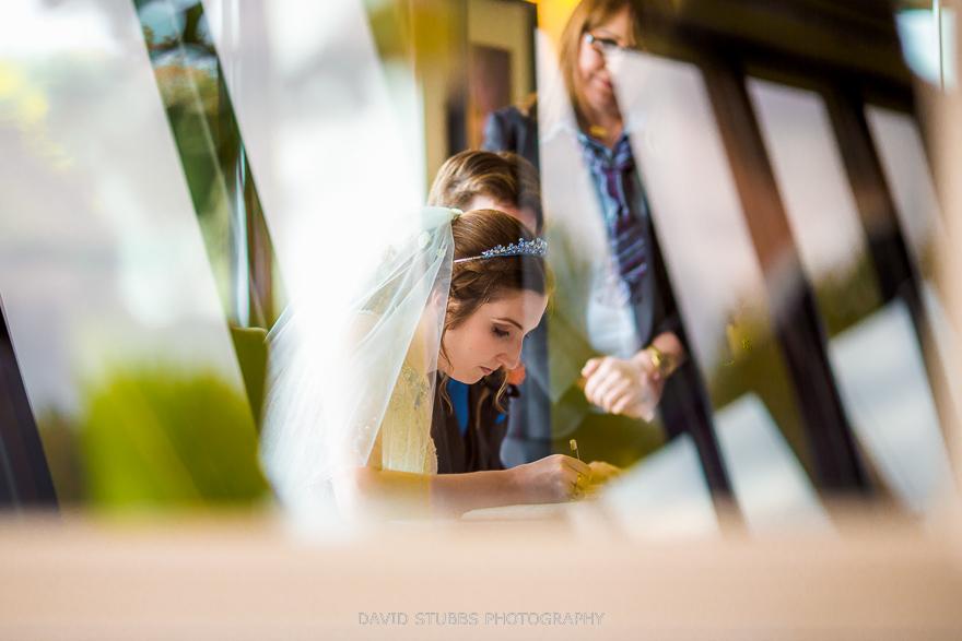 wedding photos through glass