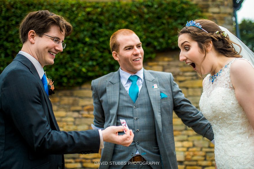 bride is impressed