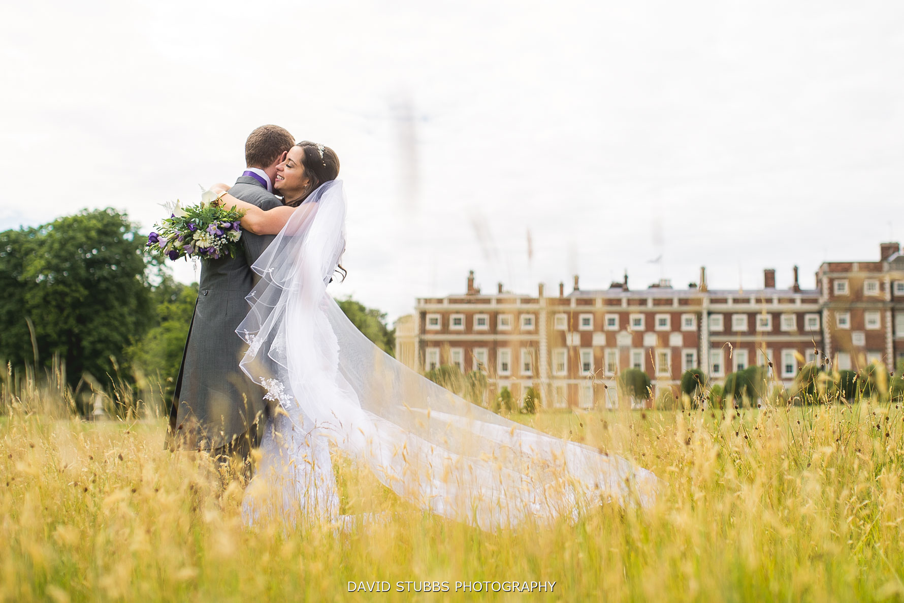 Knowsley hall wedding photo from the gardens