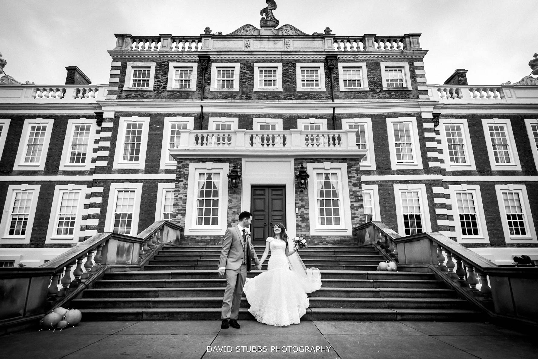 the front of knowsley hall