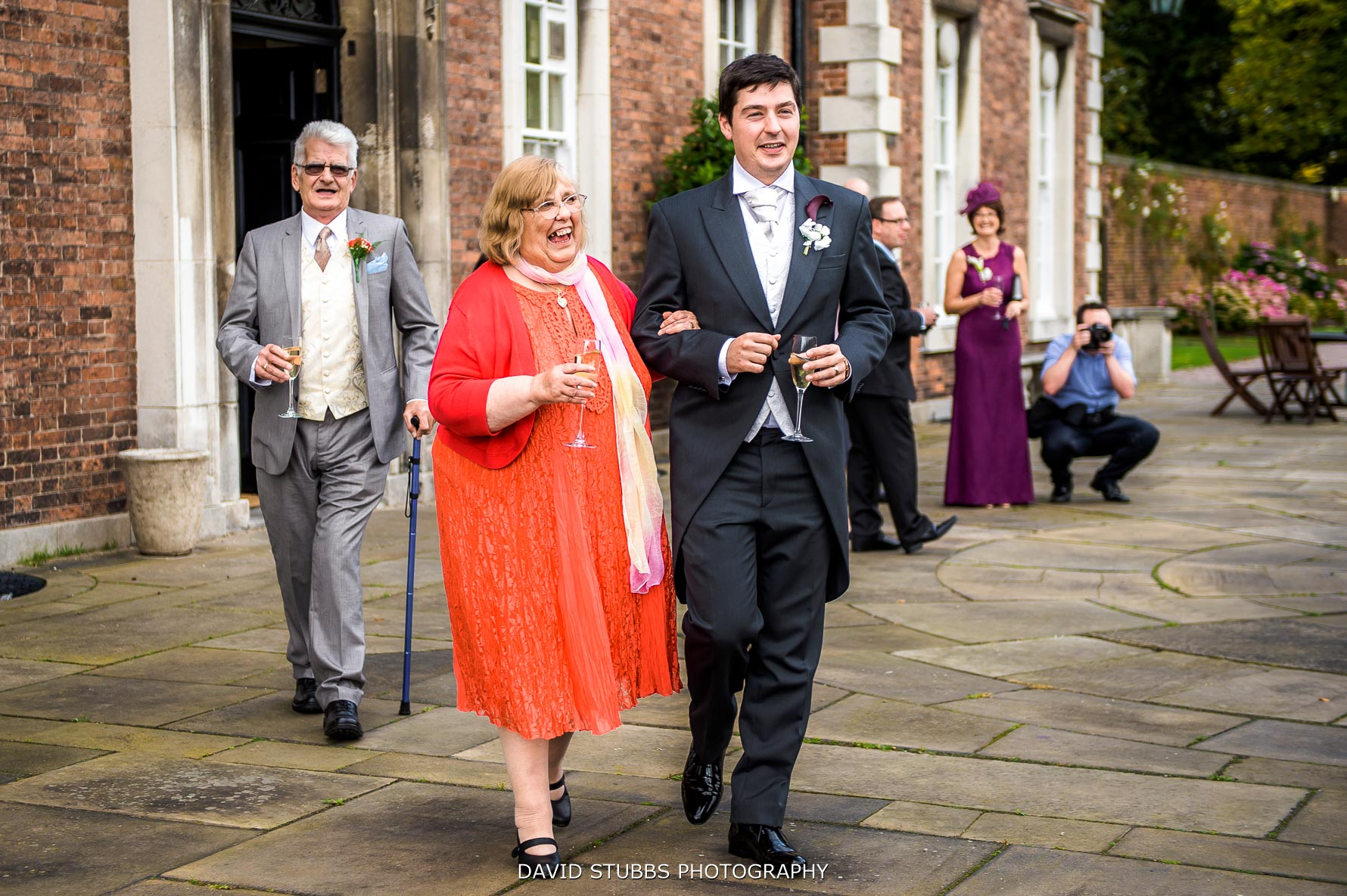 relaxed wedding photos at Knowsley hall