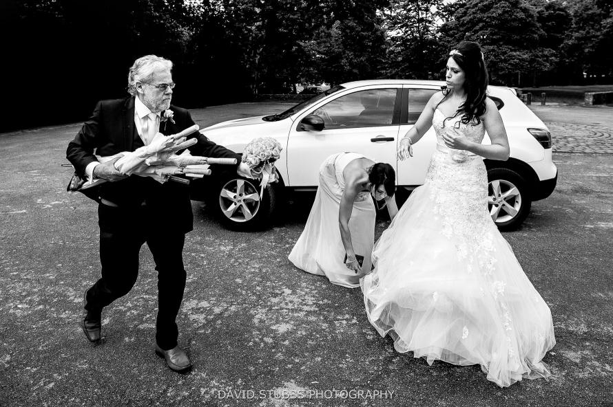 wedding photography at Rivington hall barn