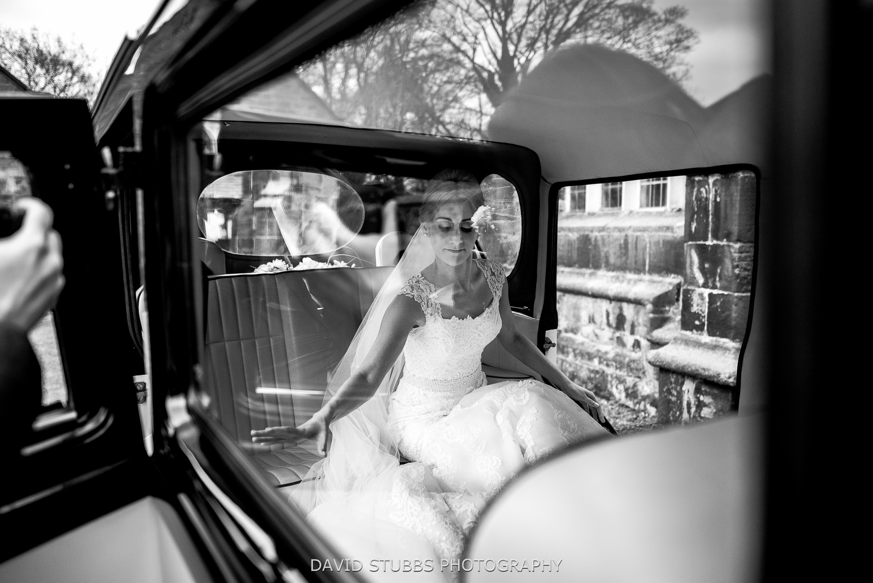 wedding car to venue and reception