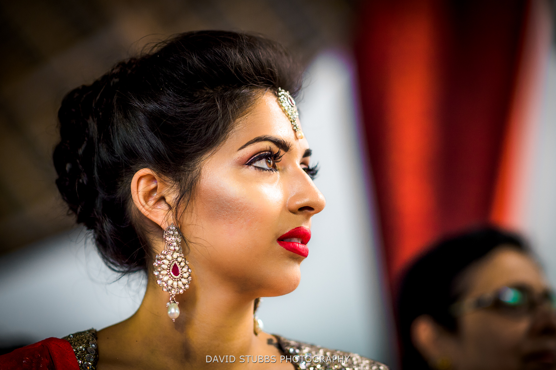 close-up of bride beauty