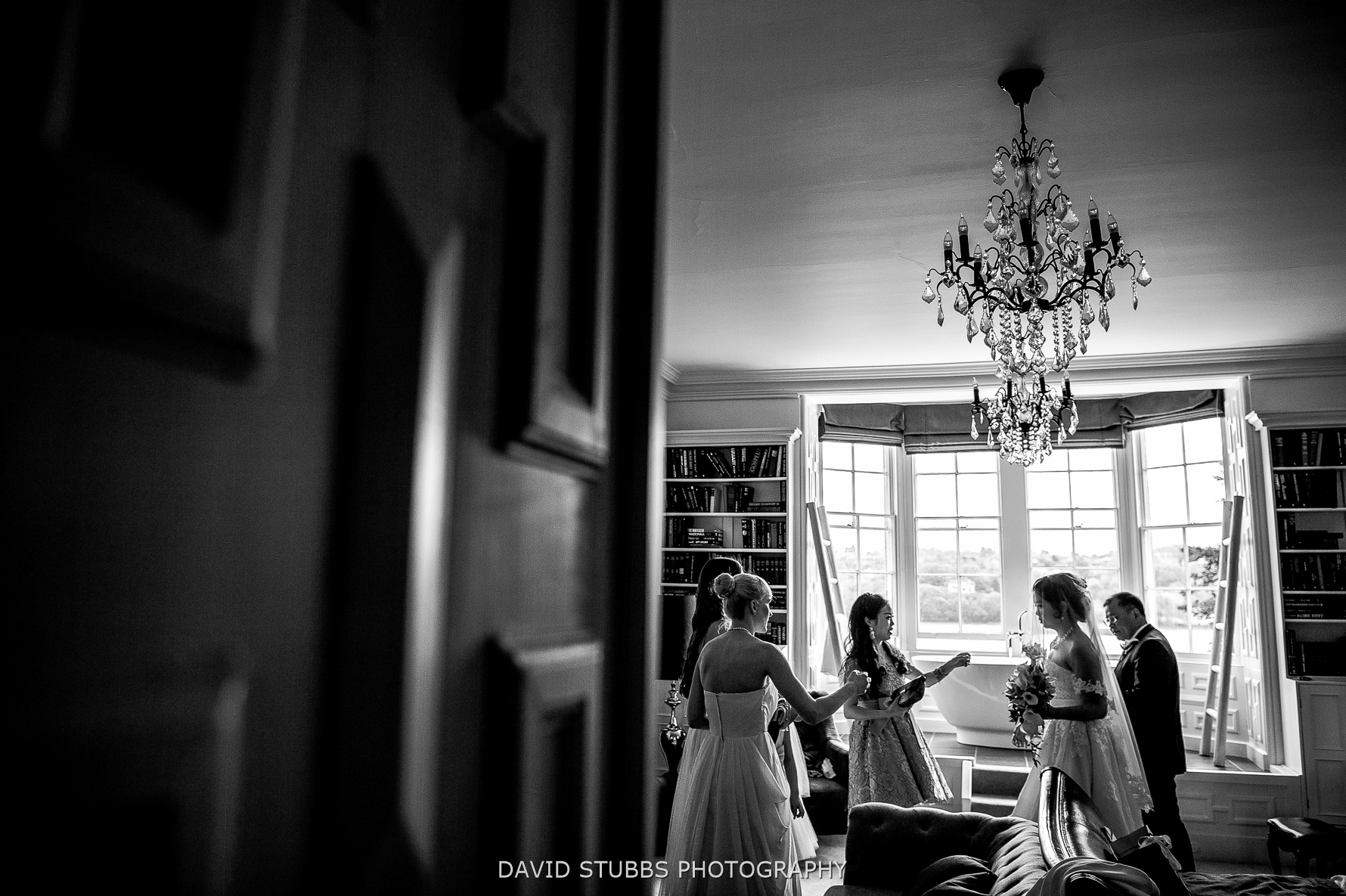 tension before the ceremony in Chateau