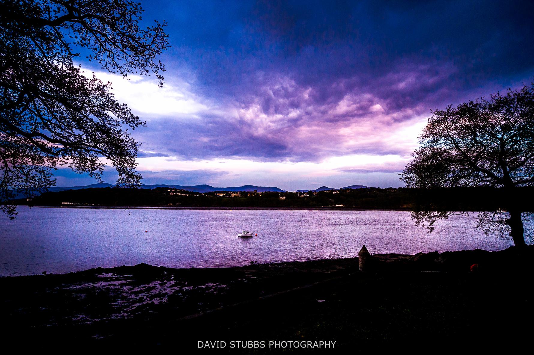 evening photo of menai strait