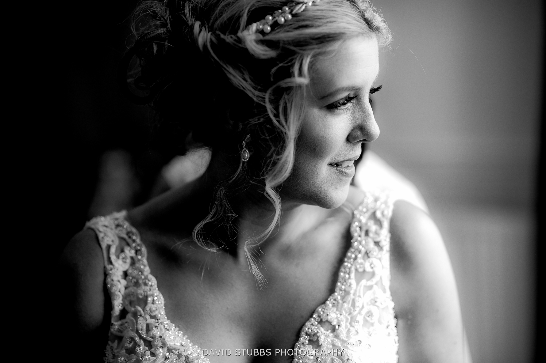bride before her irton hall wedding