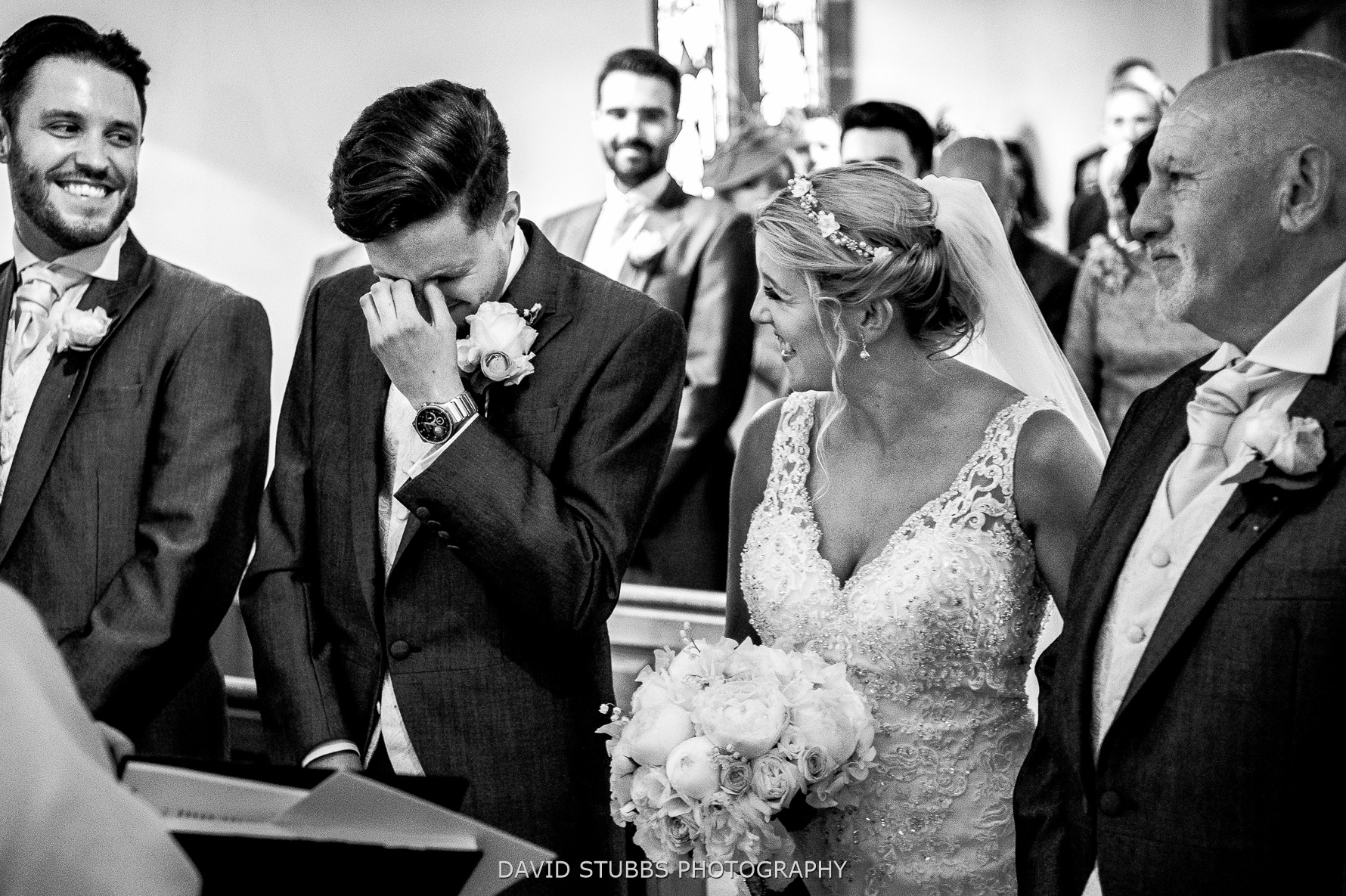 tears from groom