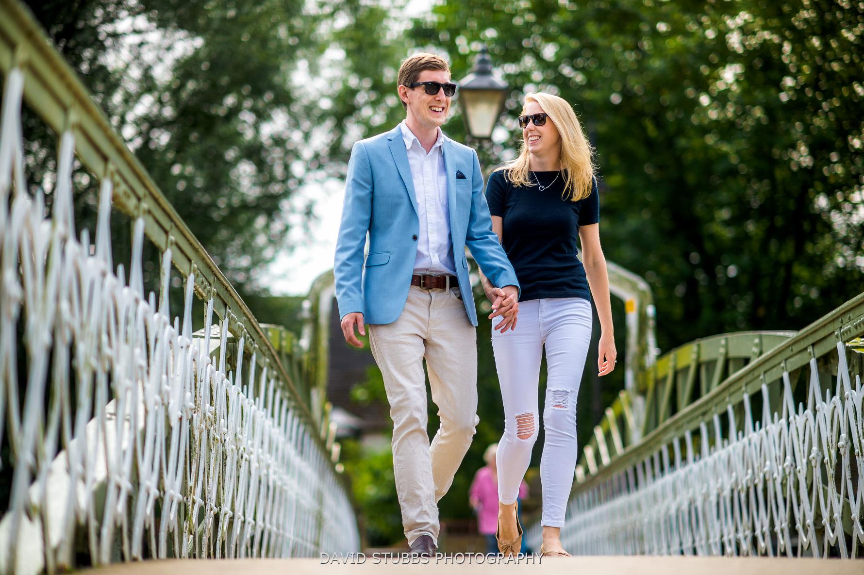 couple at water street bridge in stamford