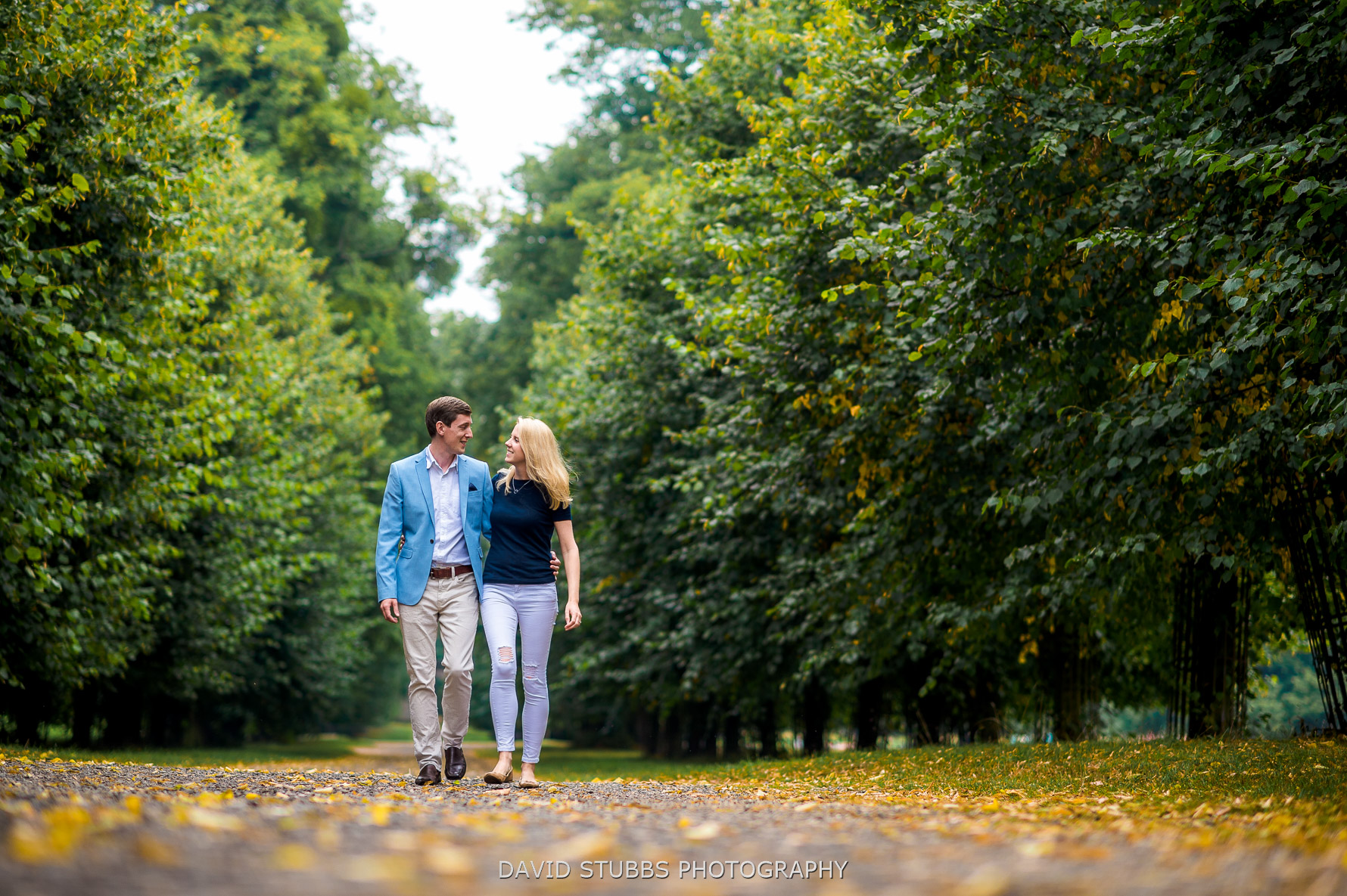 engagement photography at burghley house
