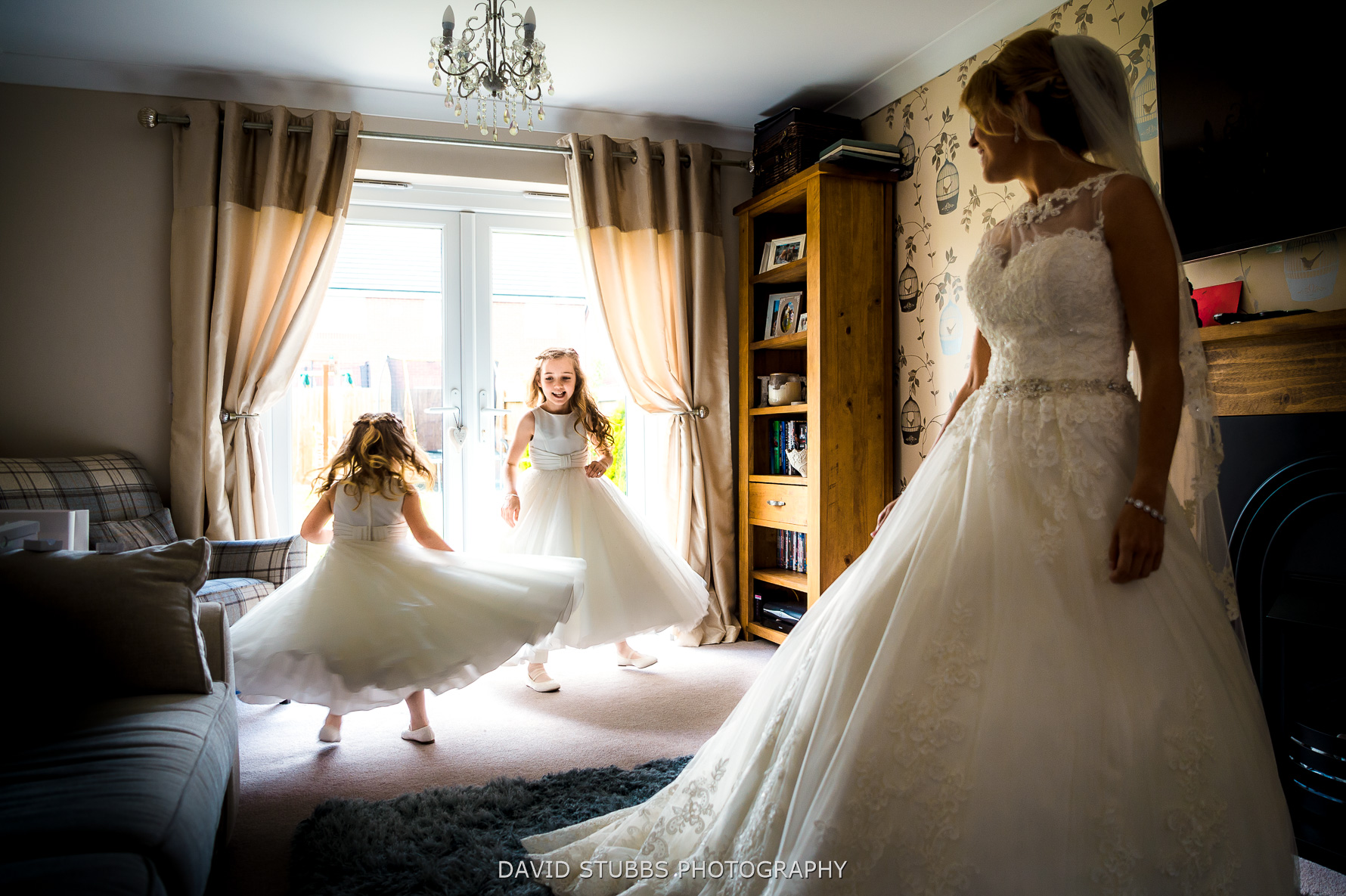 flower girls spinning
