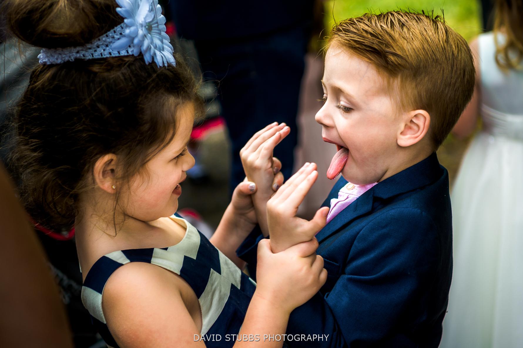 kids beign silly
