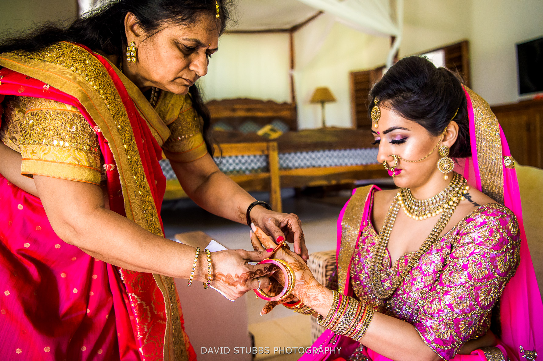 bride and jewelry