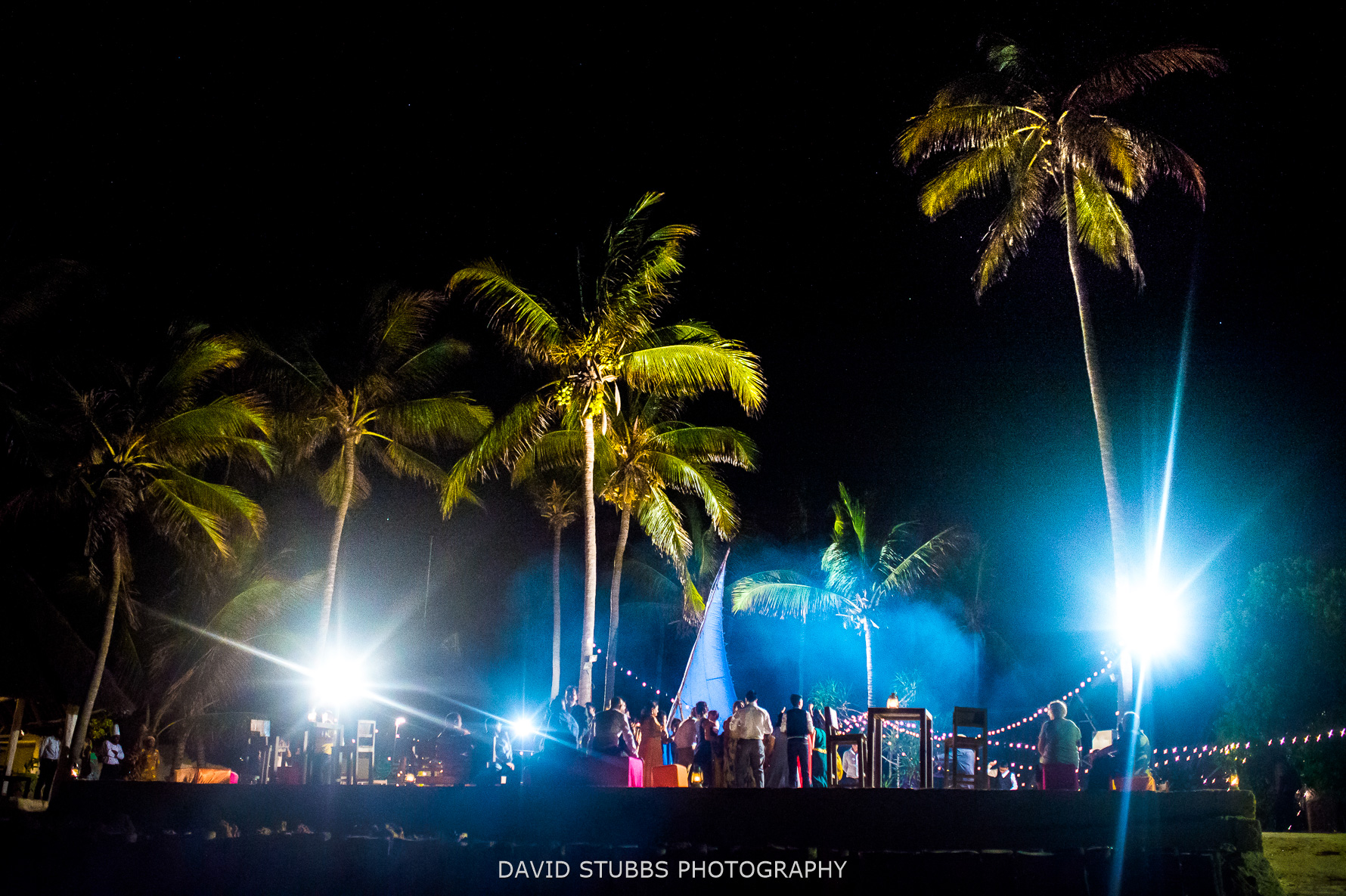 party on the beach zanzibar wedding