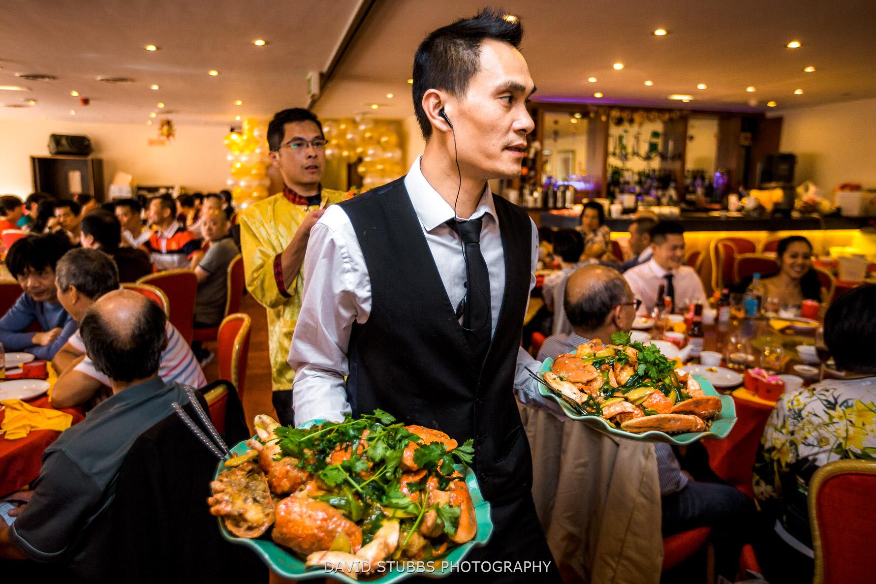 serving lobster