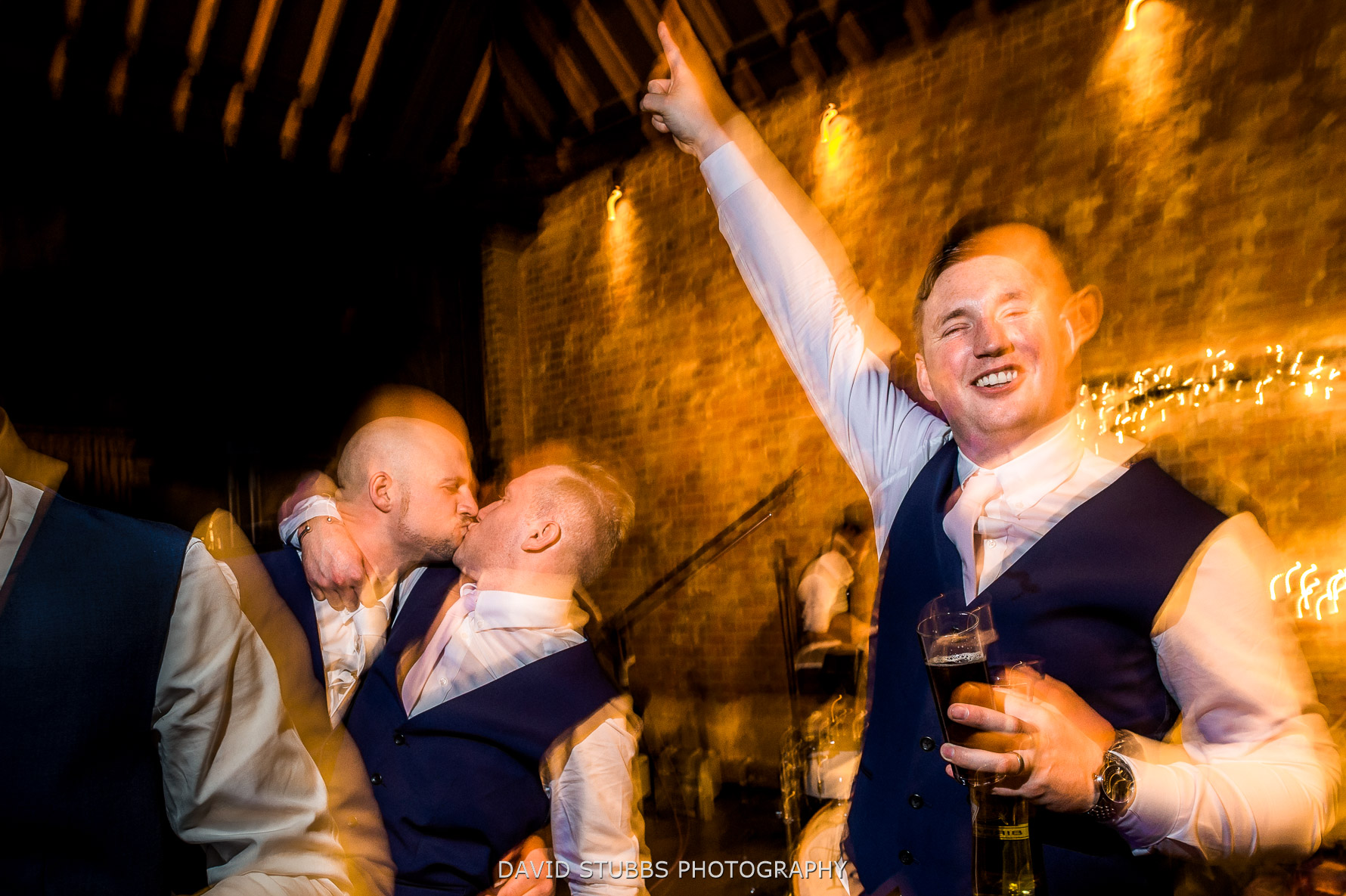 last shot of the wedding at Cooling castle Barns