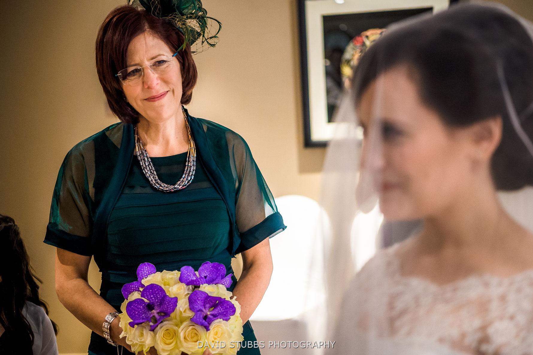 mother of bride emotional