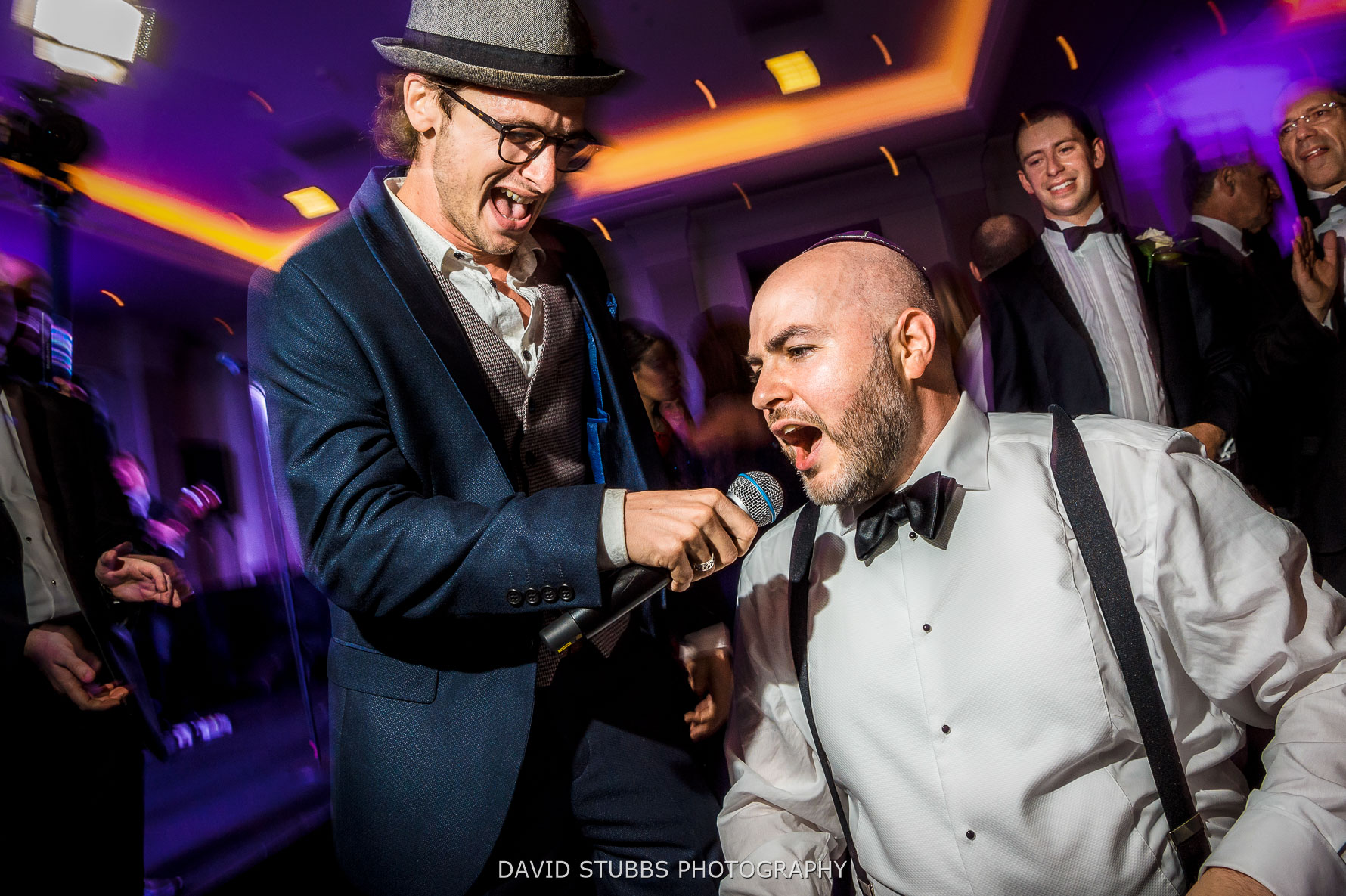 grooms joins in music