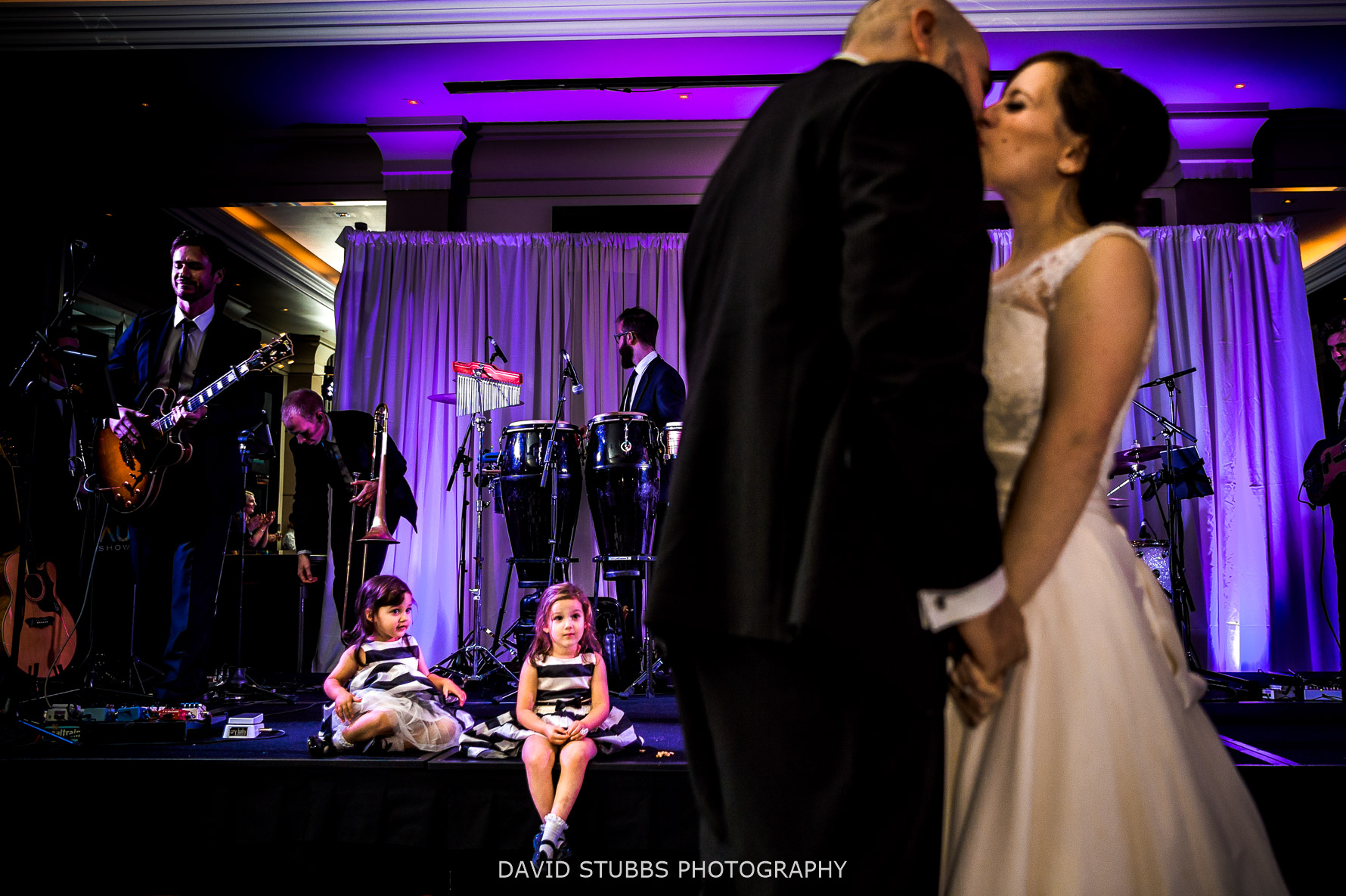 kids look on during first dance