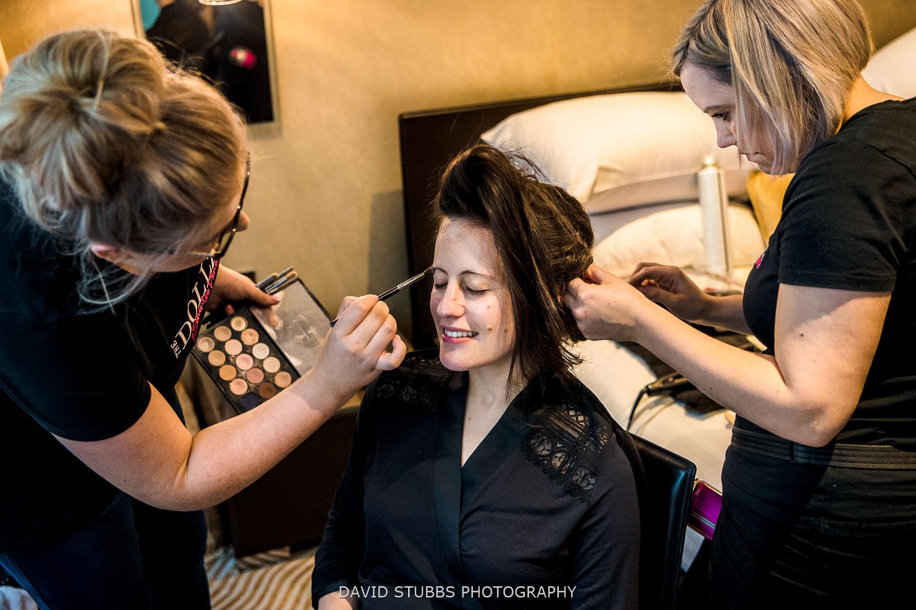 bride hair and make-up