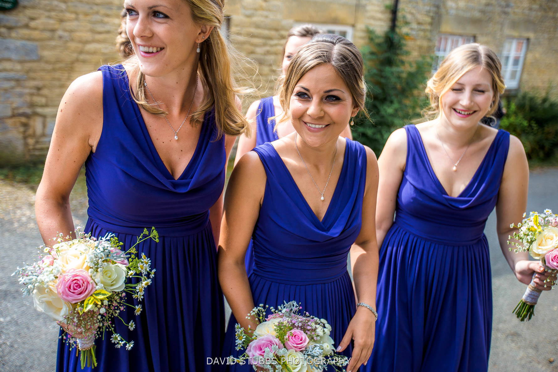 bridemaids arriving irnham hall