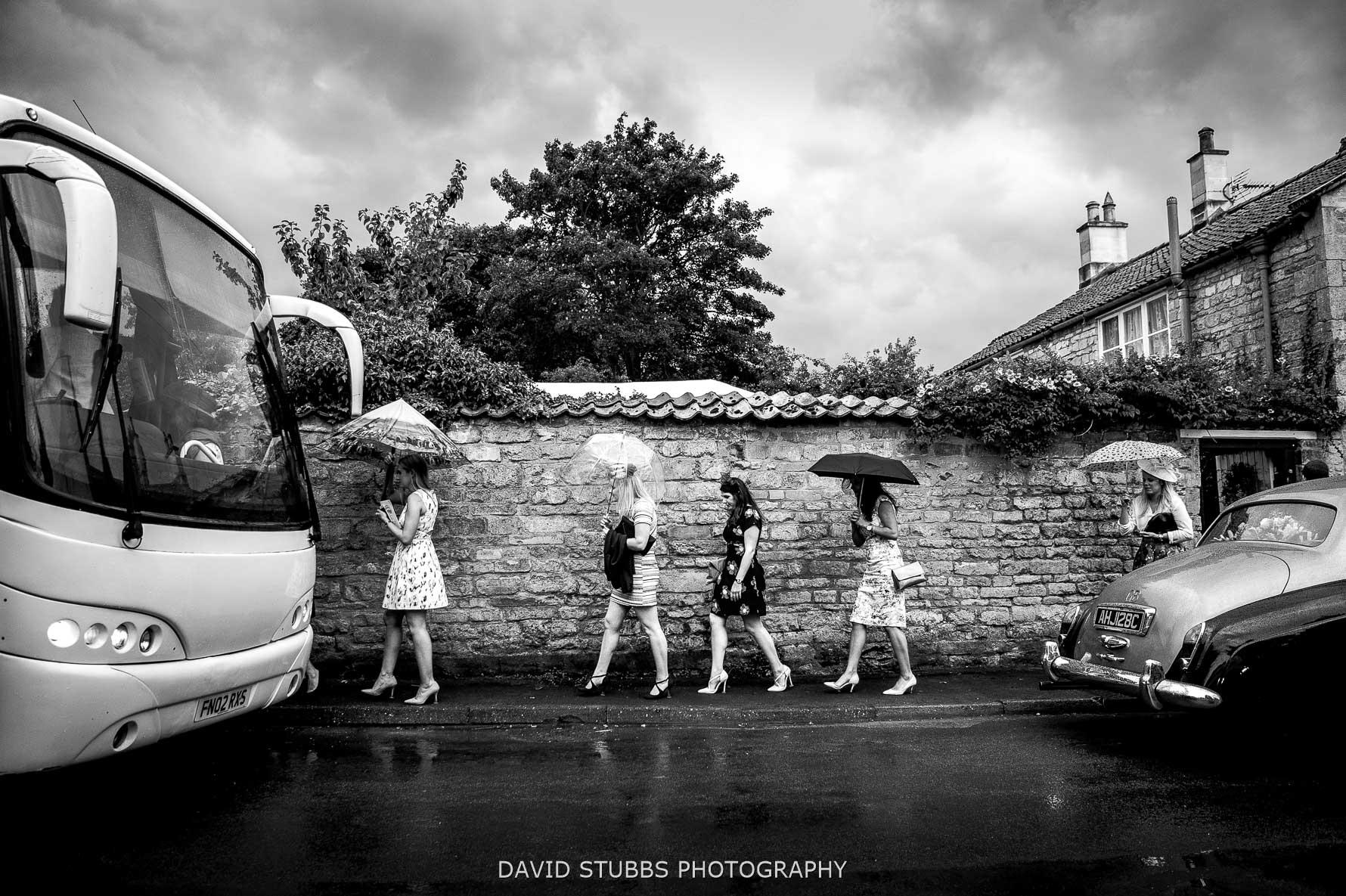 girls walking to coach