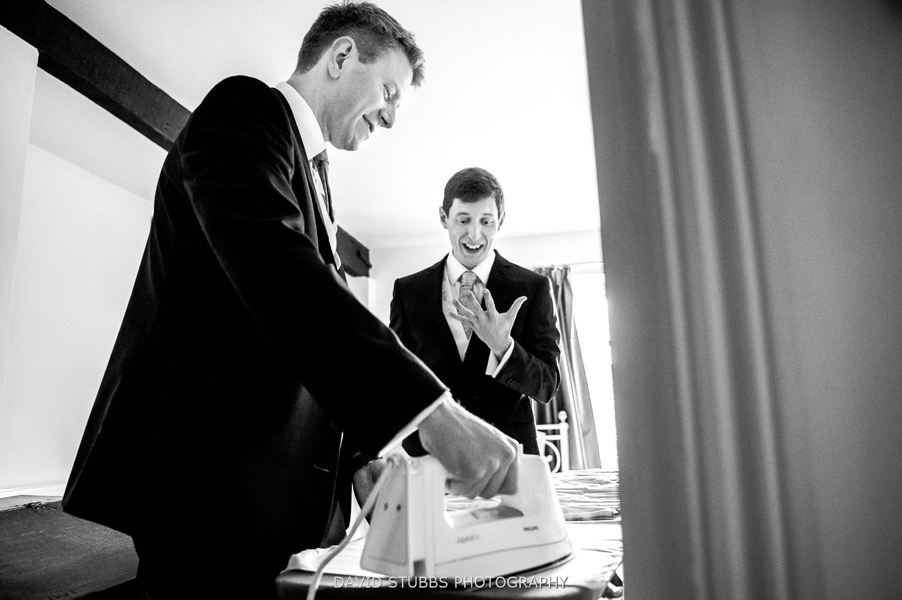 groomsmen with iron