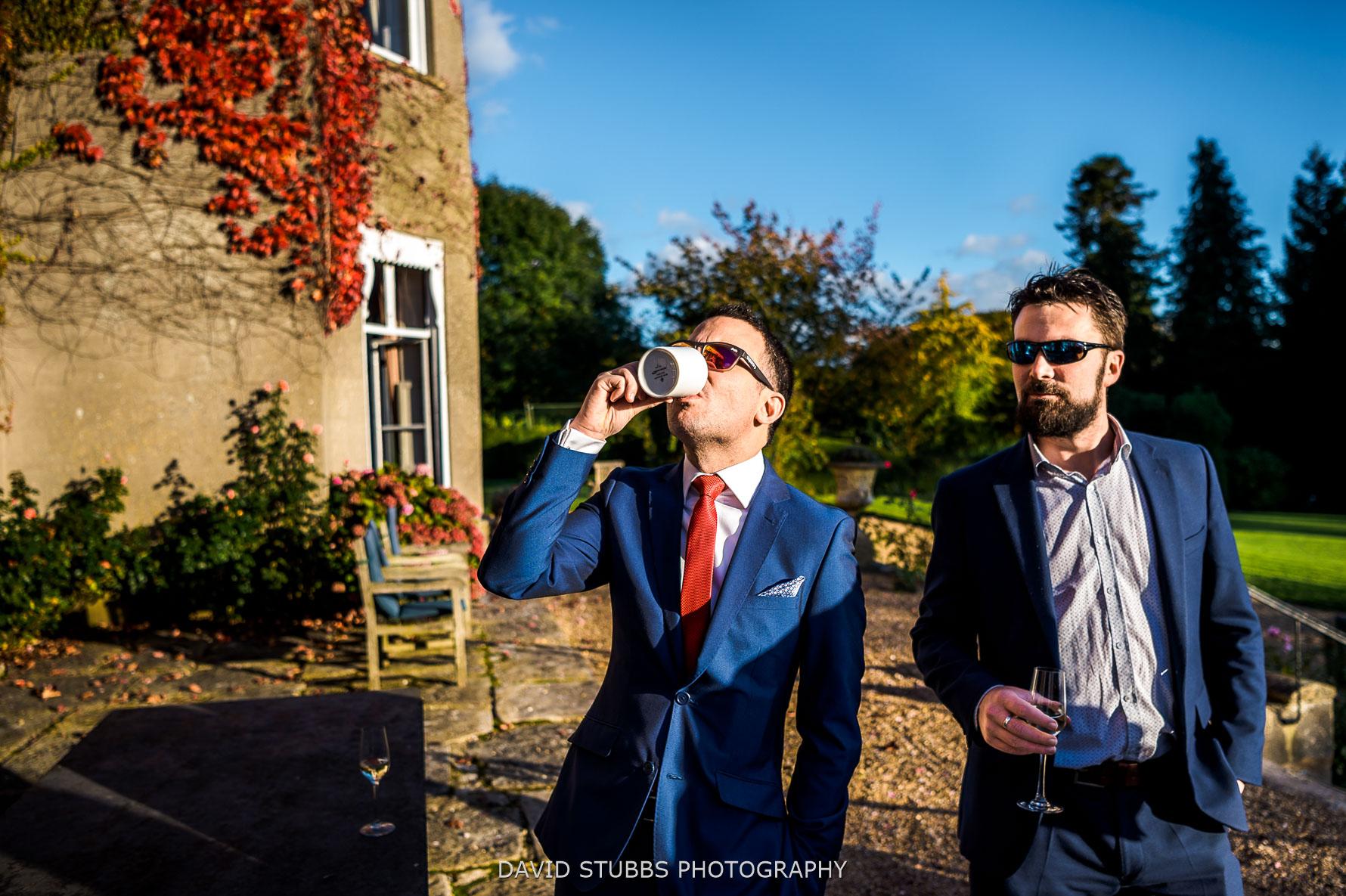 mulled cider at wedding