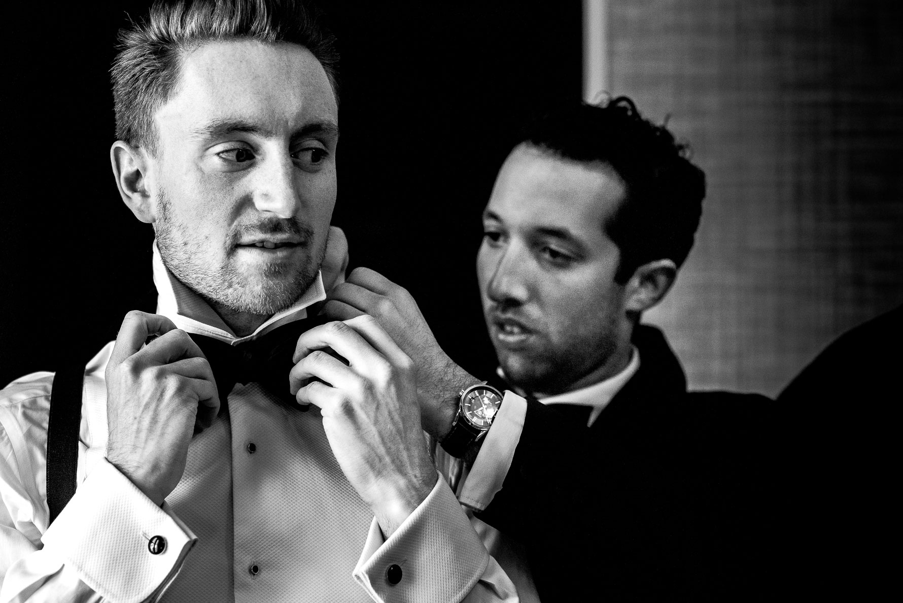 bow tie before wedding