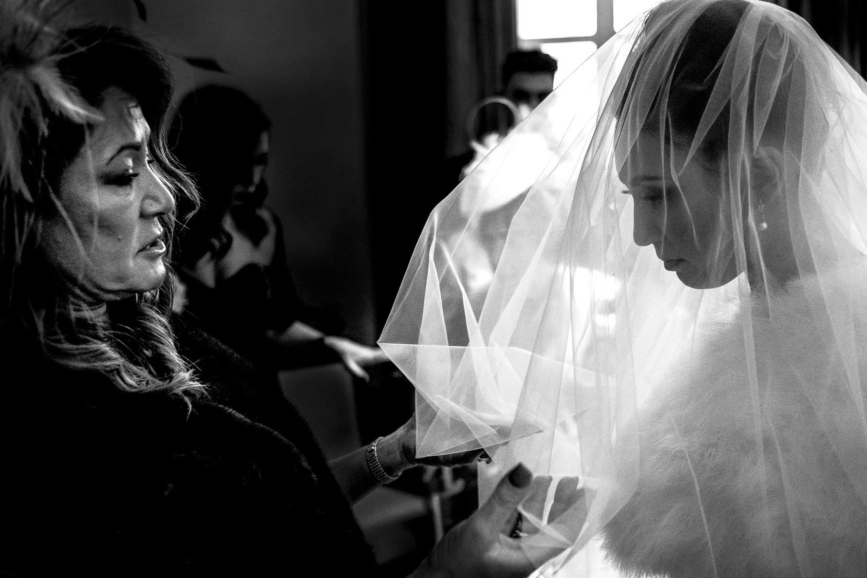 veil with back-light