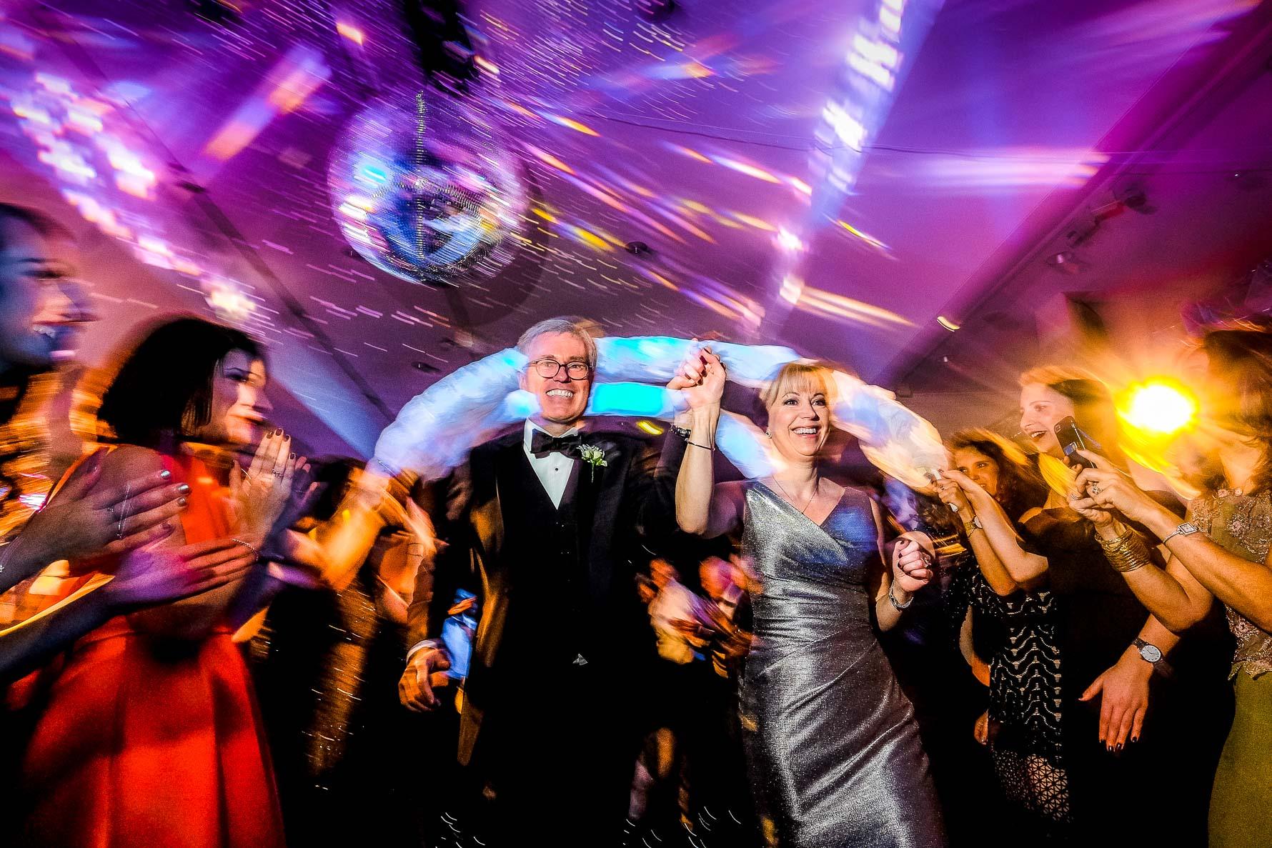 parents through guests dancing