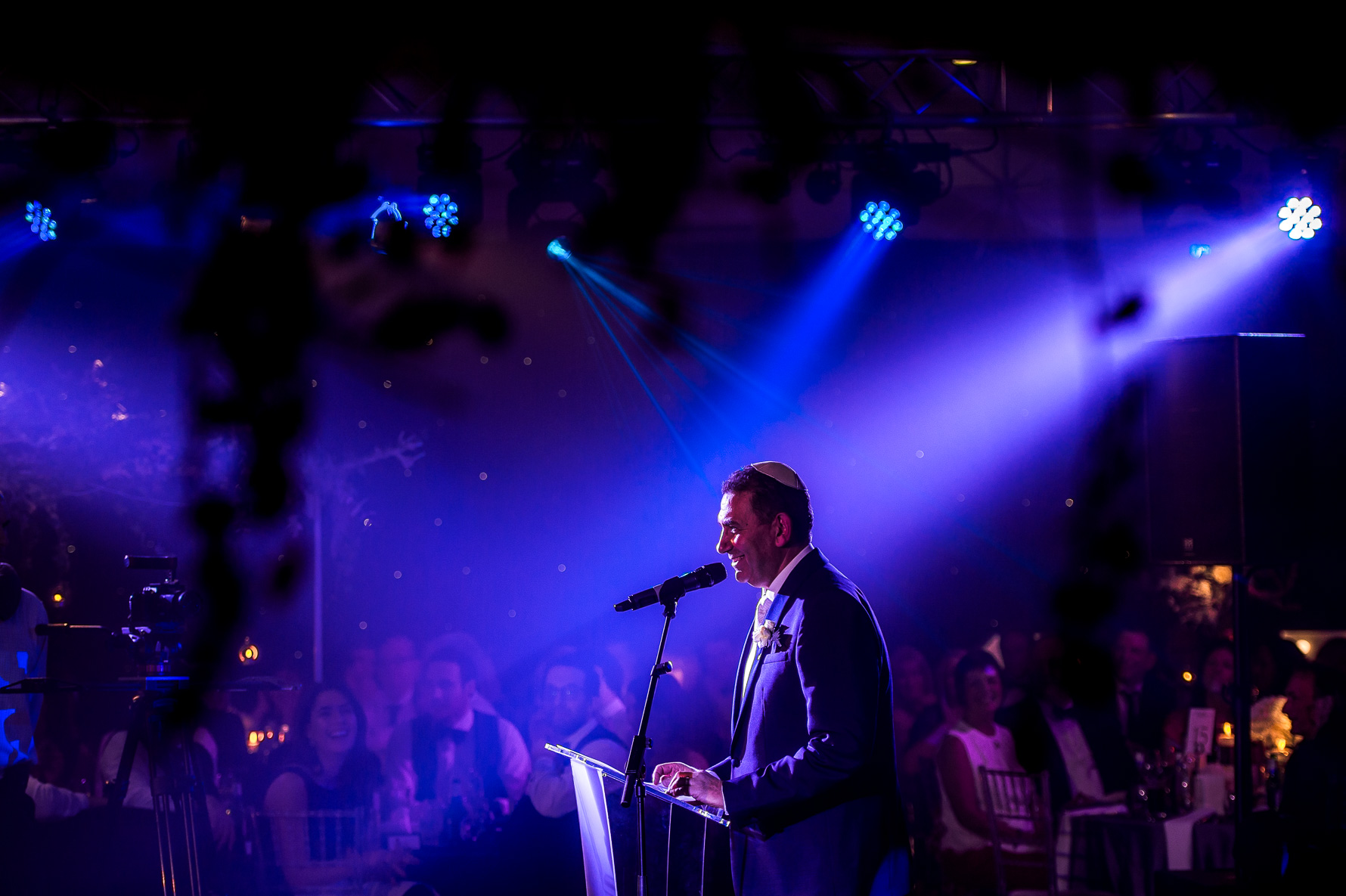 speeches with stage lighting