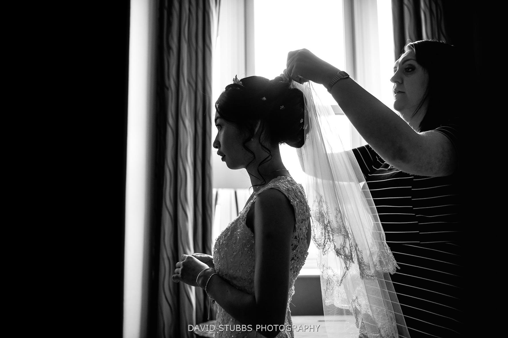 veil being put in