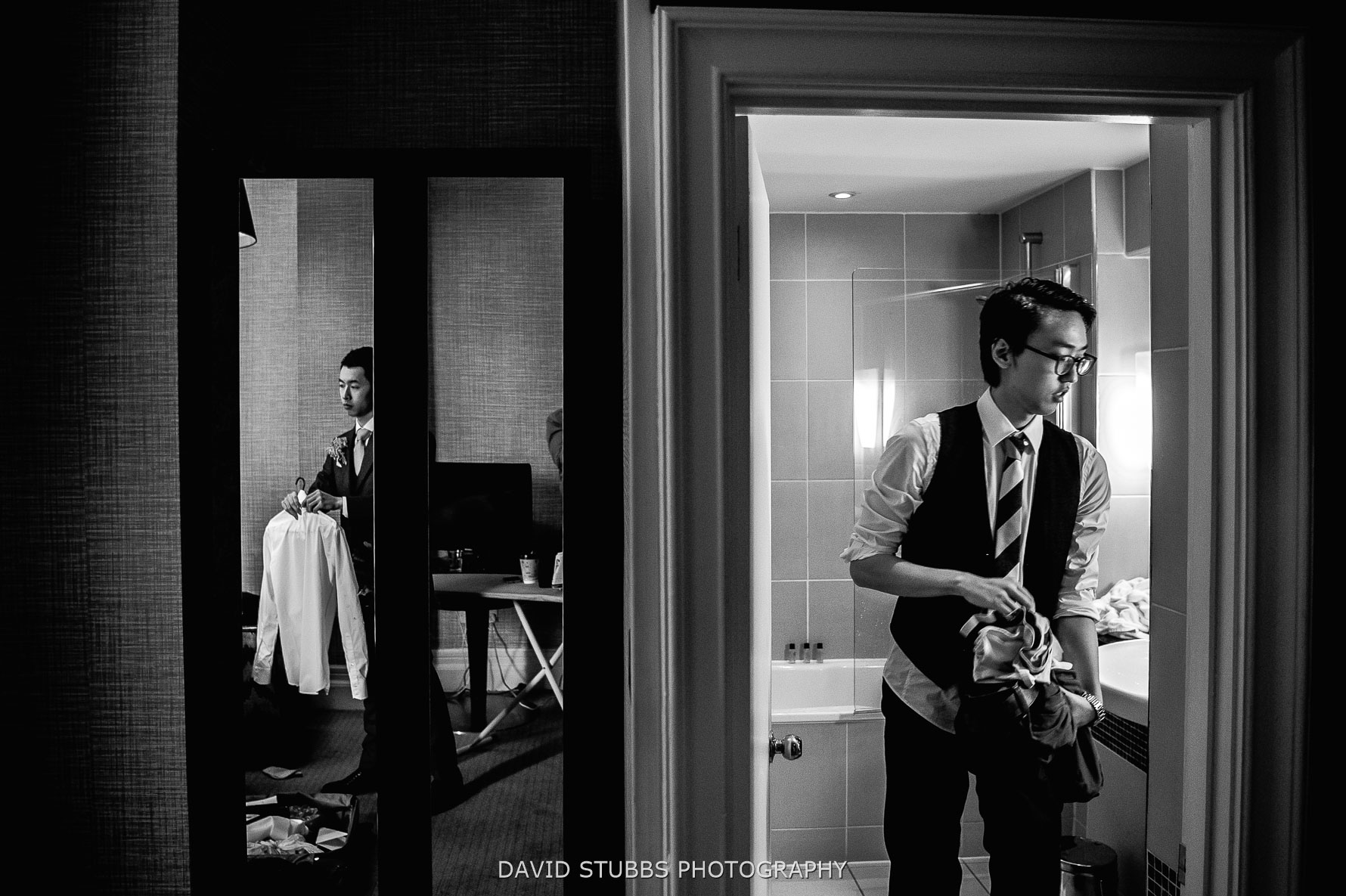 groom preparations before marriage