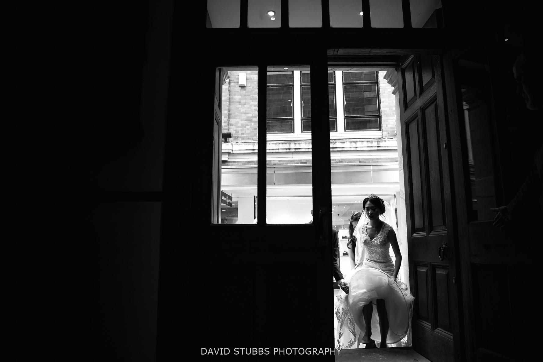 through church door