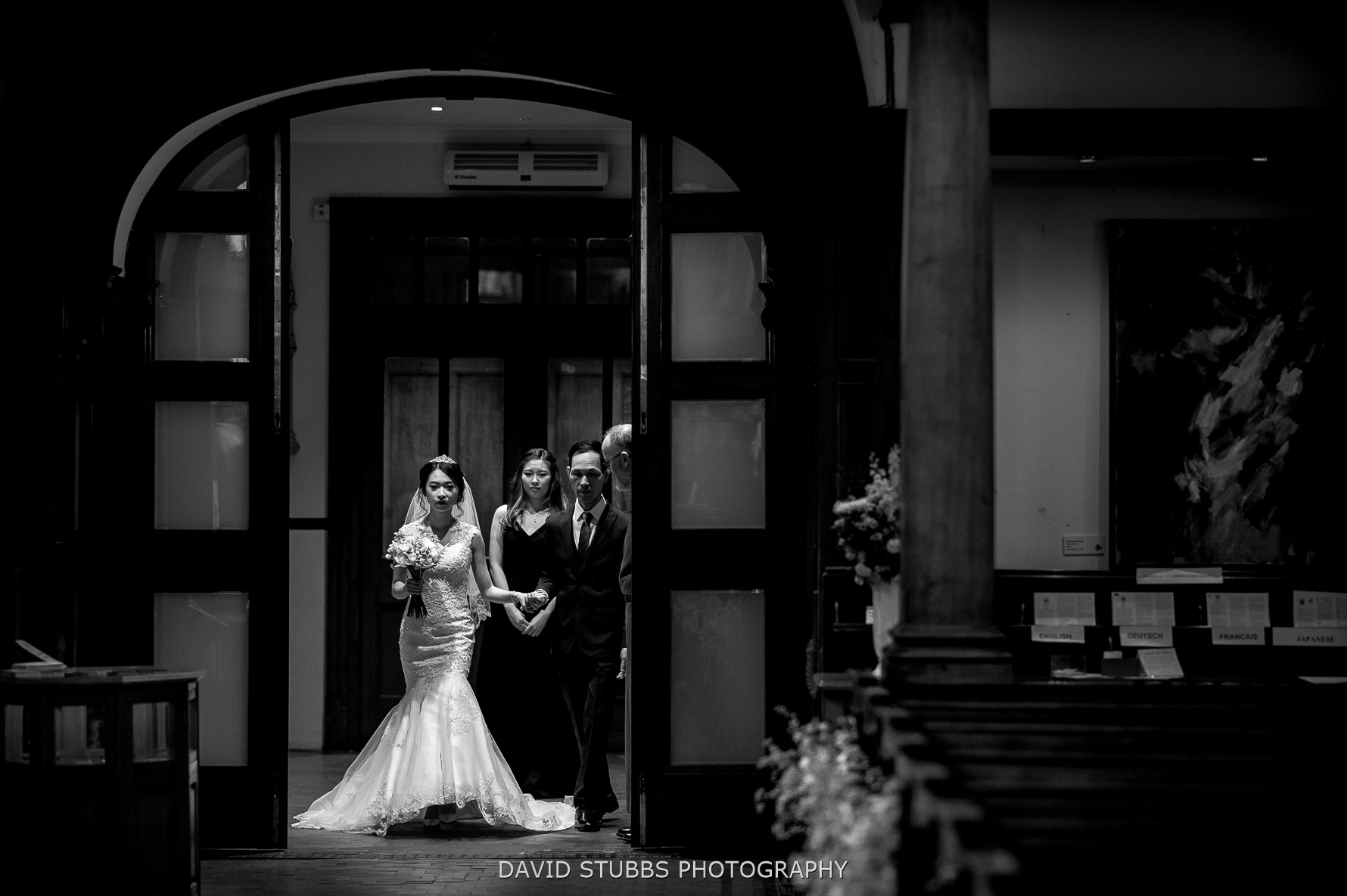 entering to say their vows