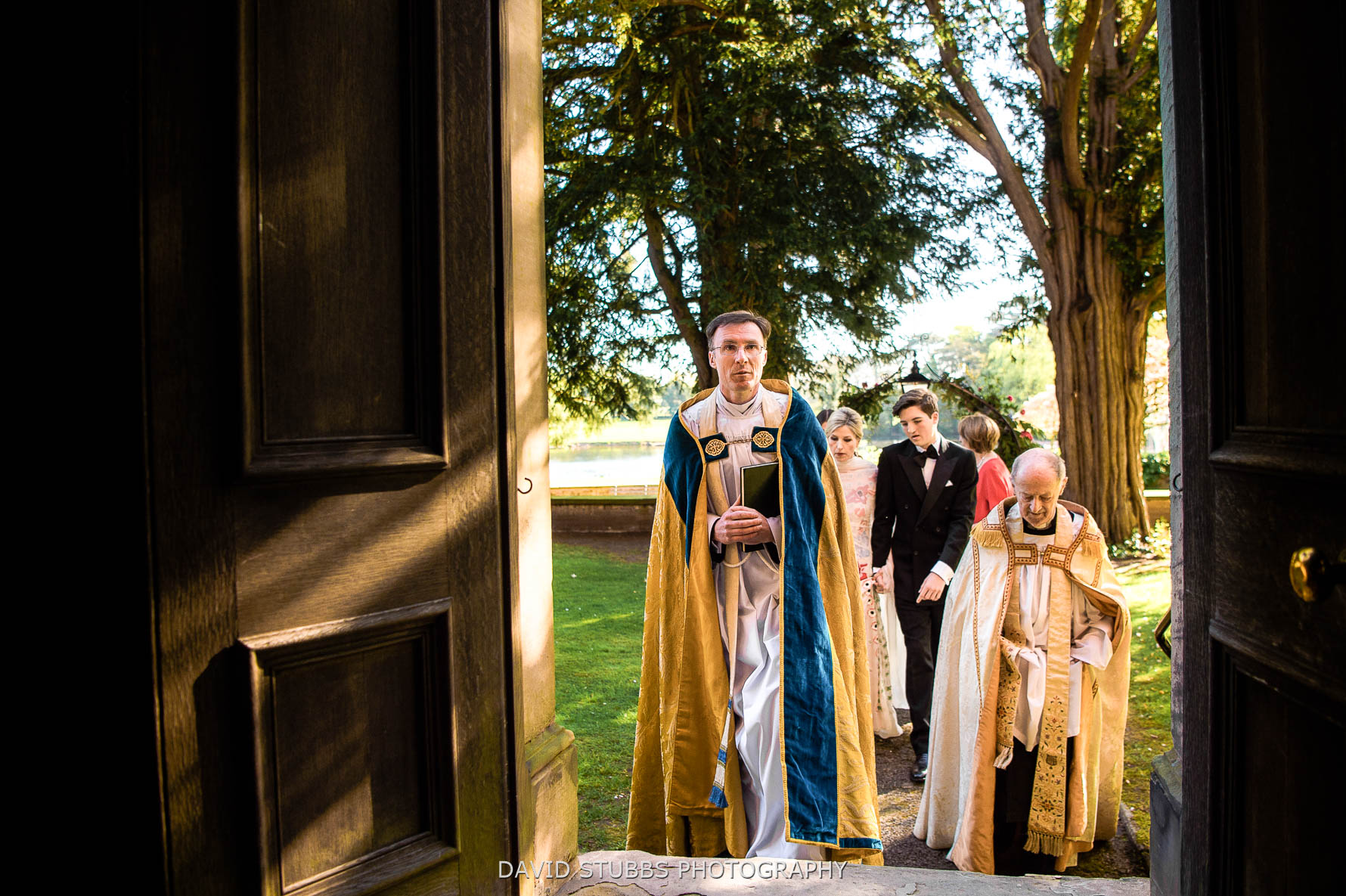 vicars in the chapen doorway