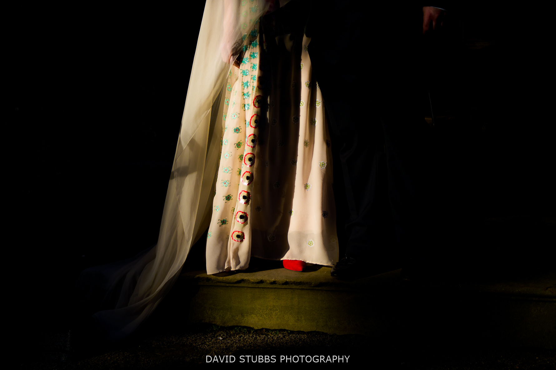 great light dress and shoes wedding