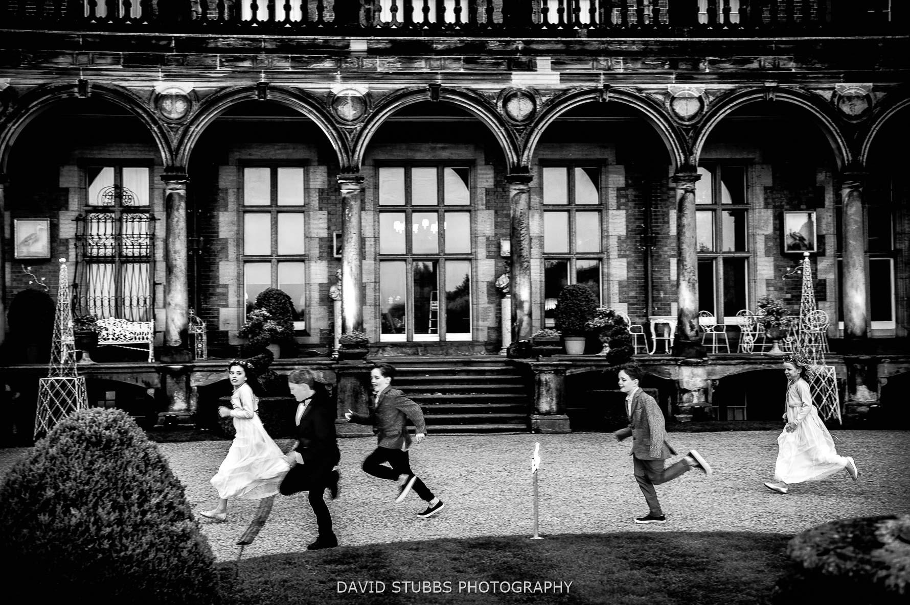long exposure kids running