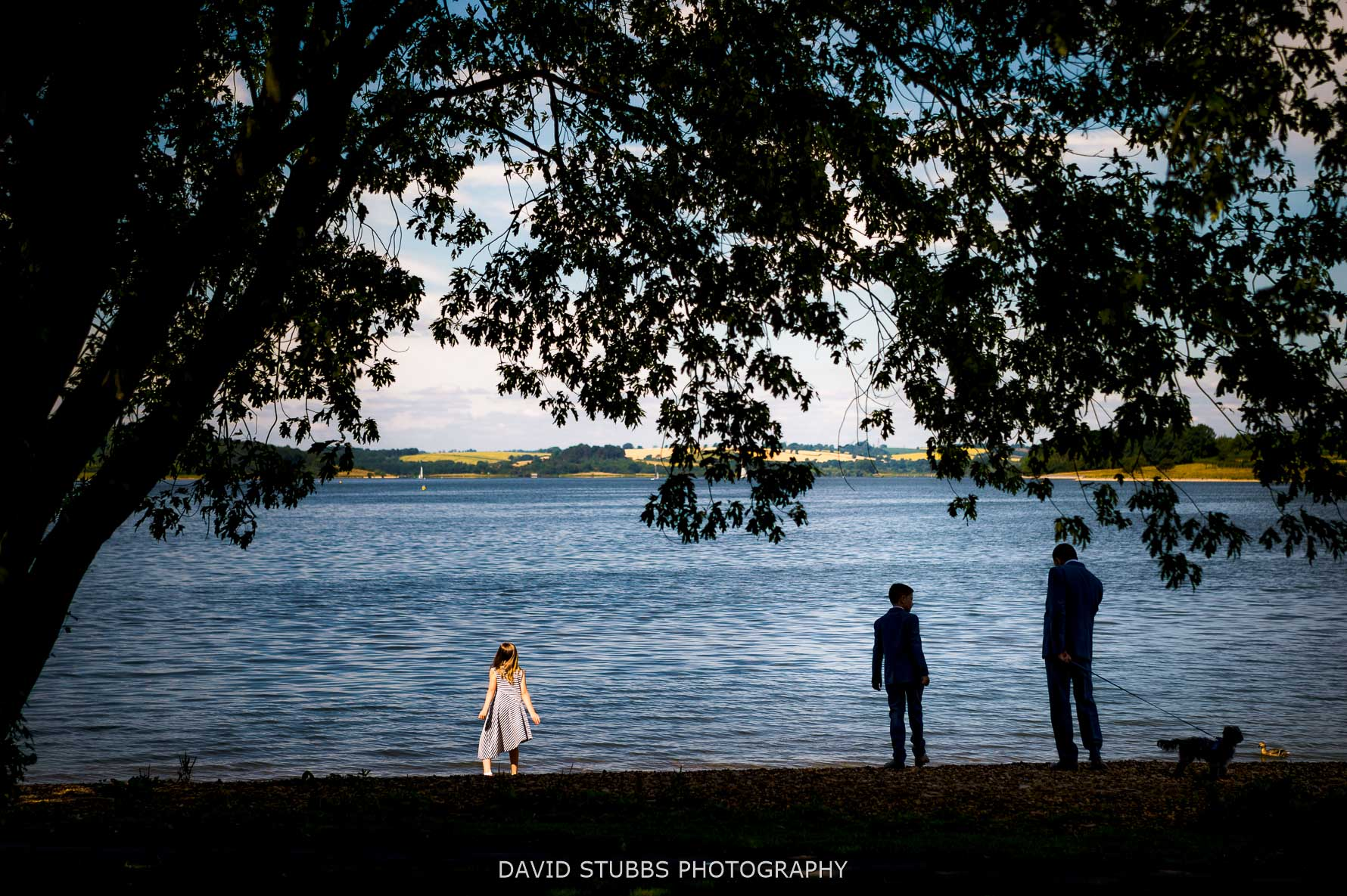 kids playing by rutland water