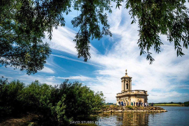 normanton church with wedding guests
