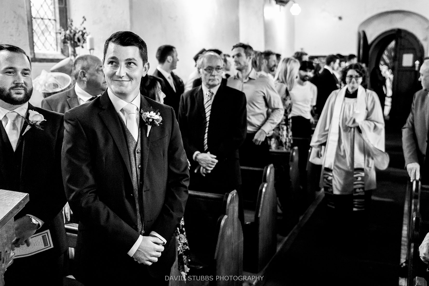 capturing the groom in black and white