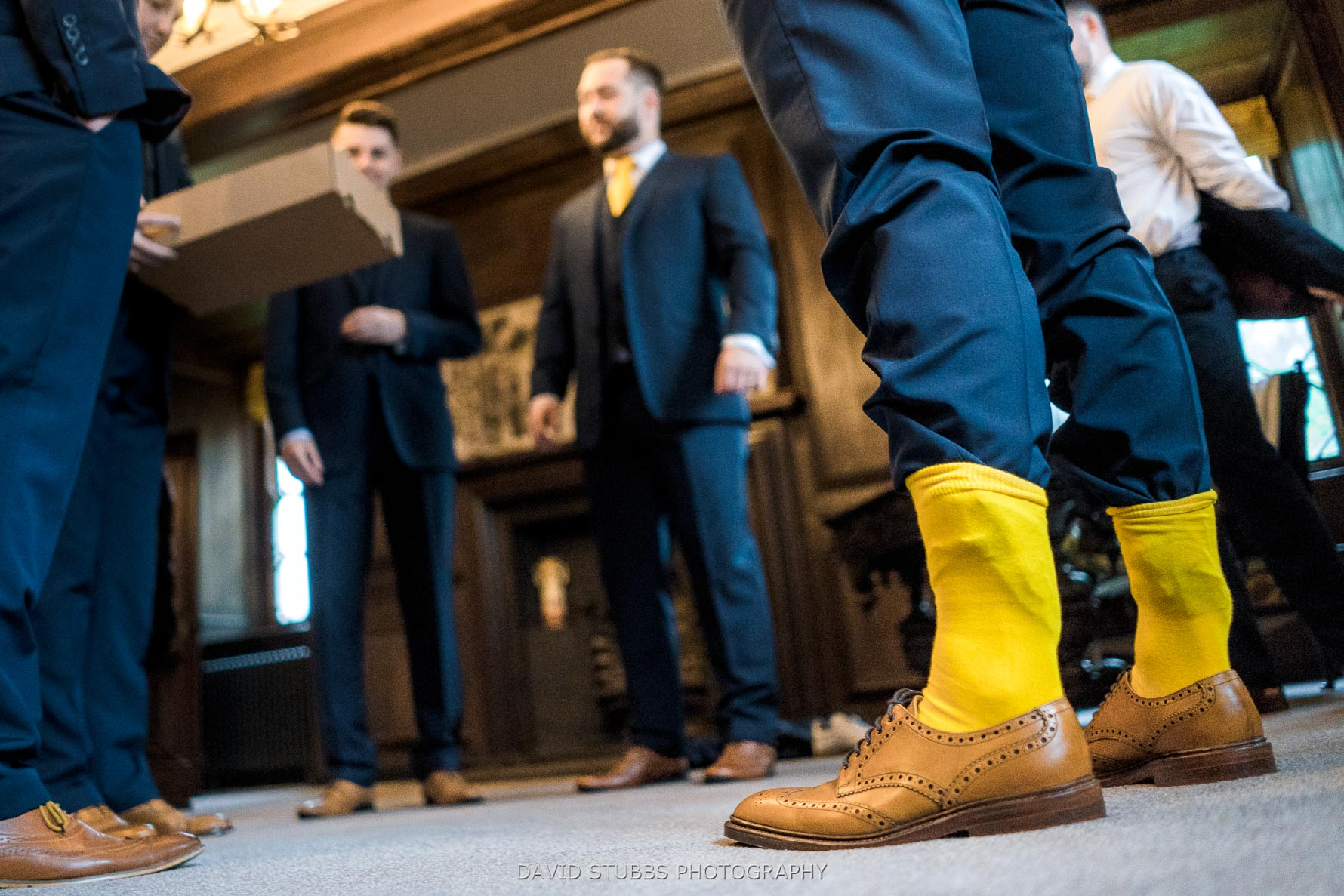 yellow socks in hall