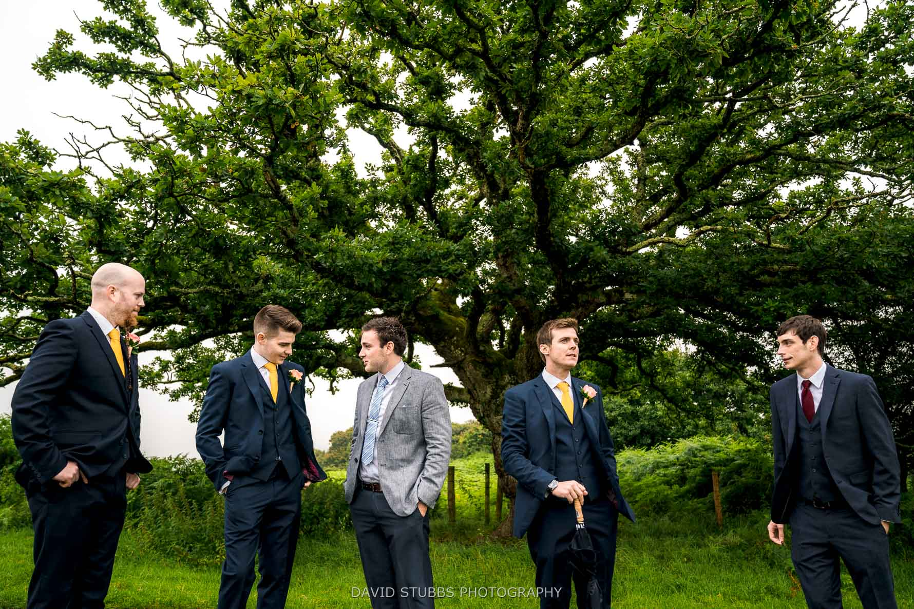 groomsmen hanging around before marriage