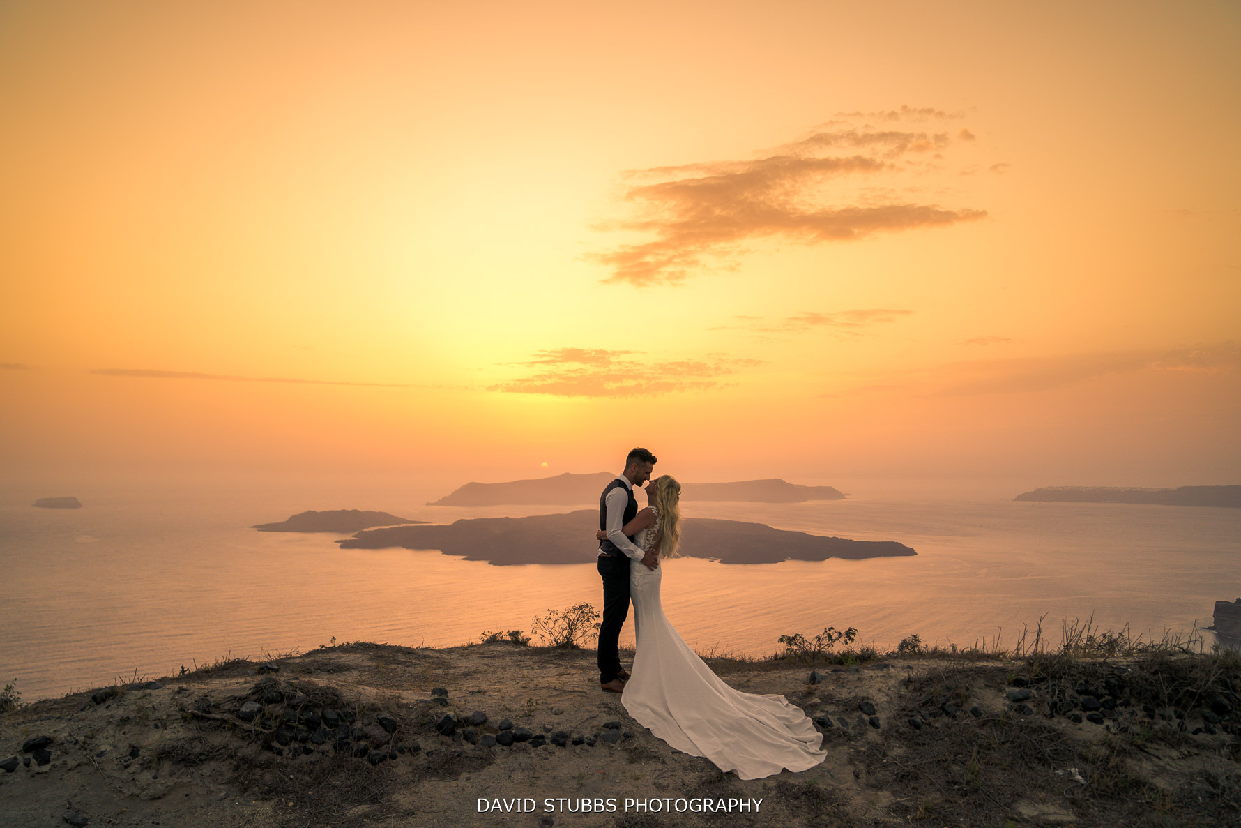 Santorini wedding photograph
