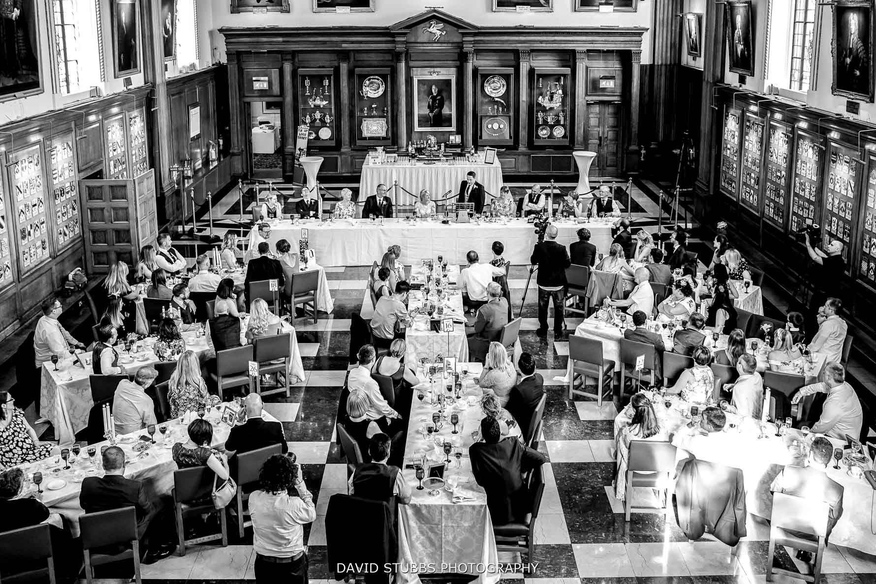 the main hall at inner temple for weddingh