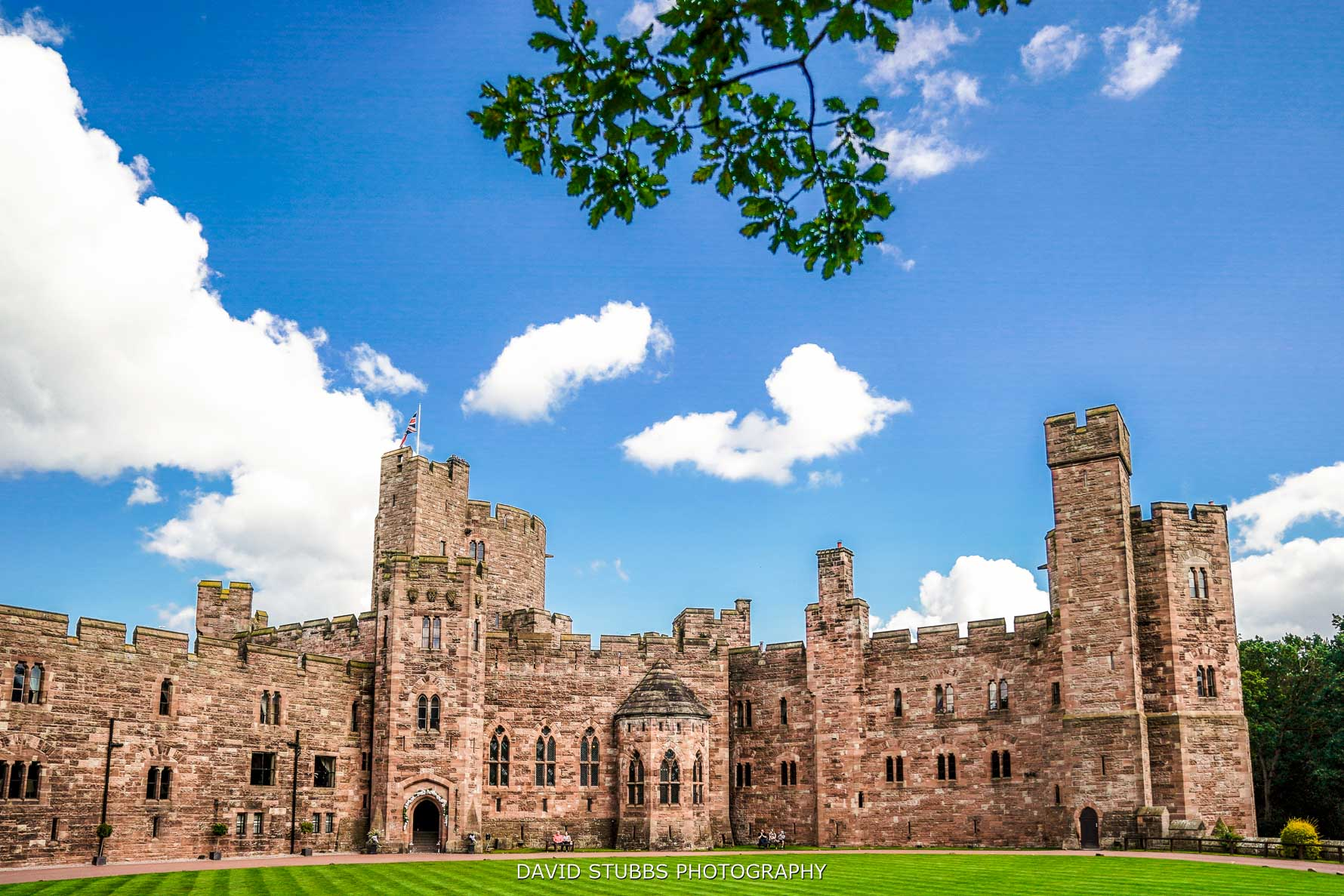 peckforton castle in the summer