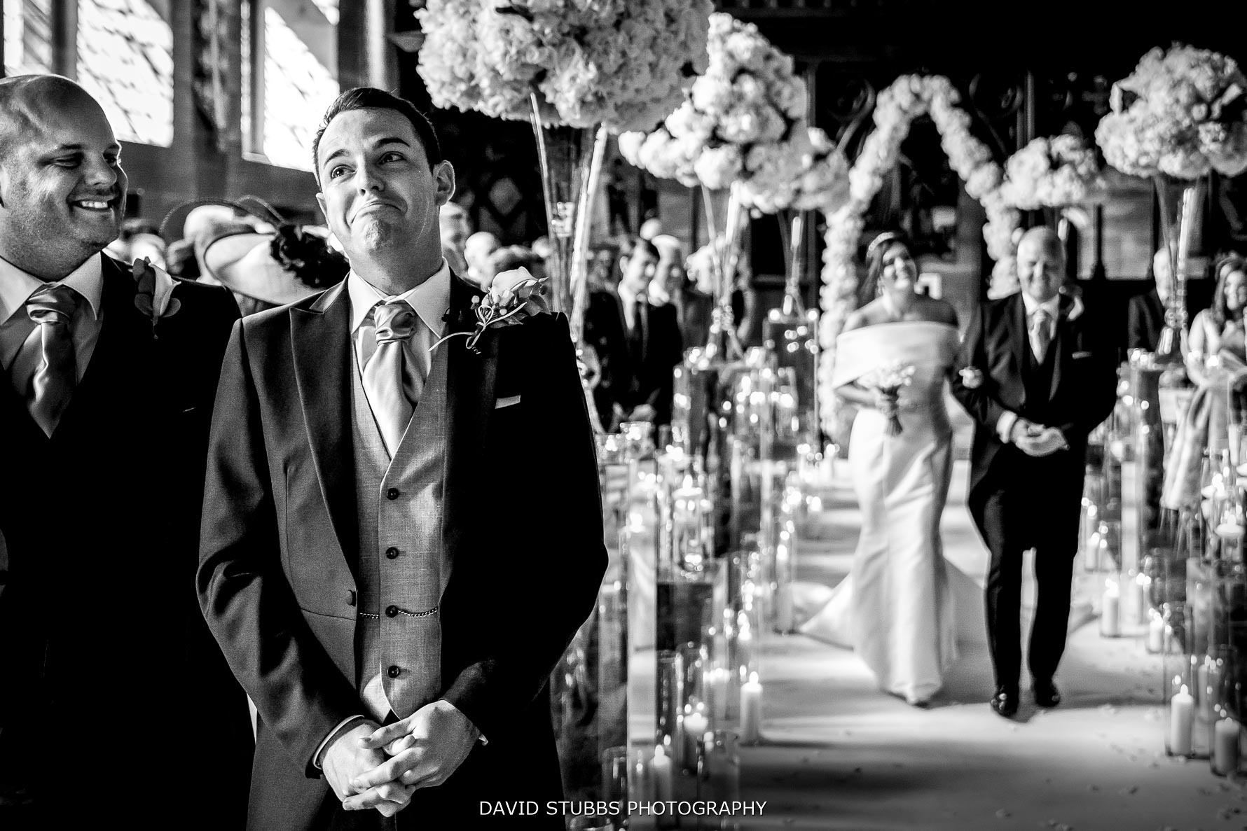 grooms reaction to seeing his bride