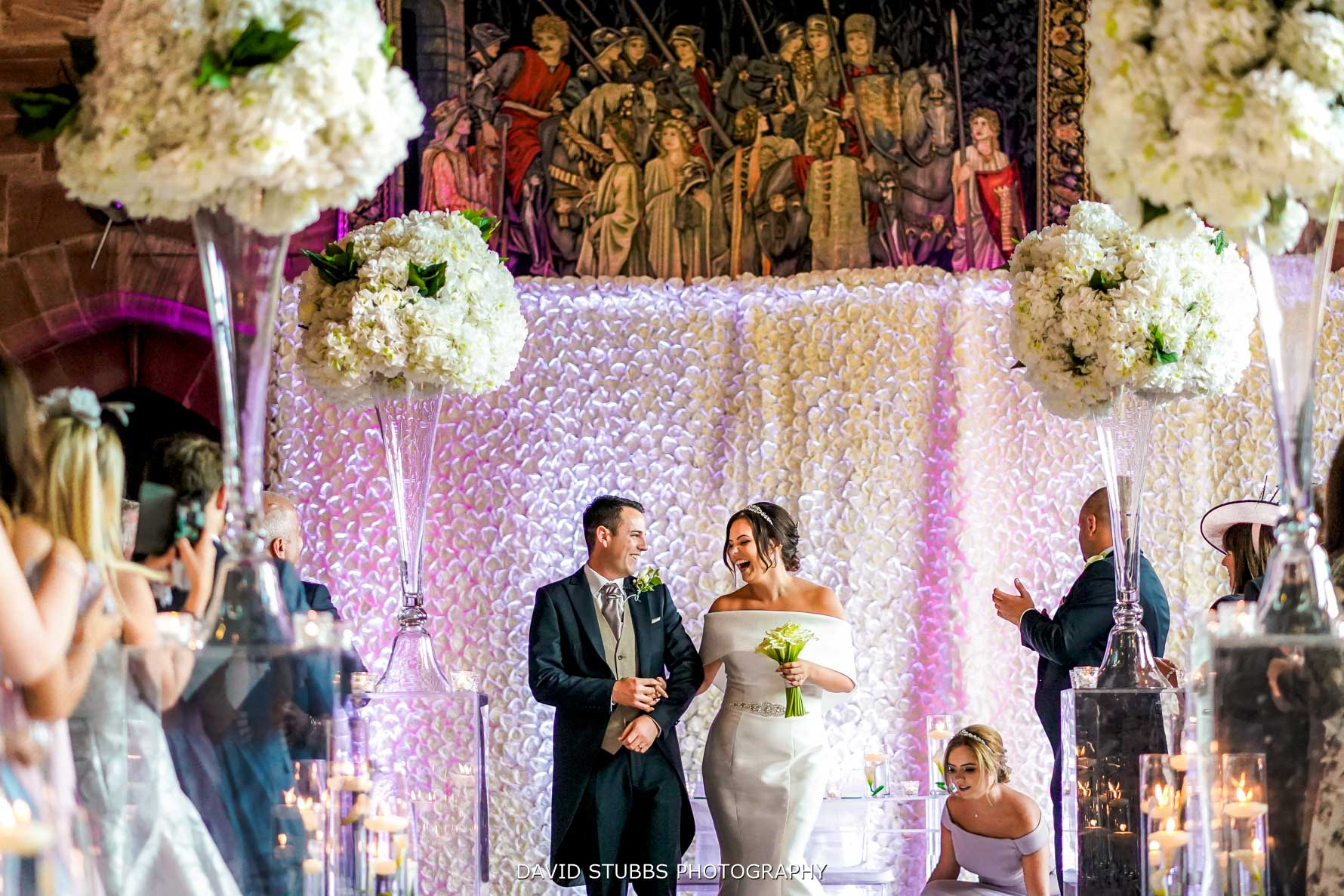 grand hall ceremony at peckforton